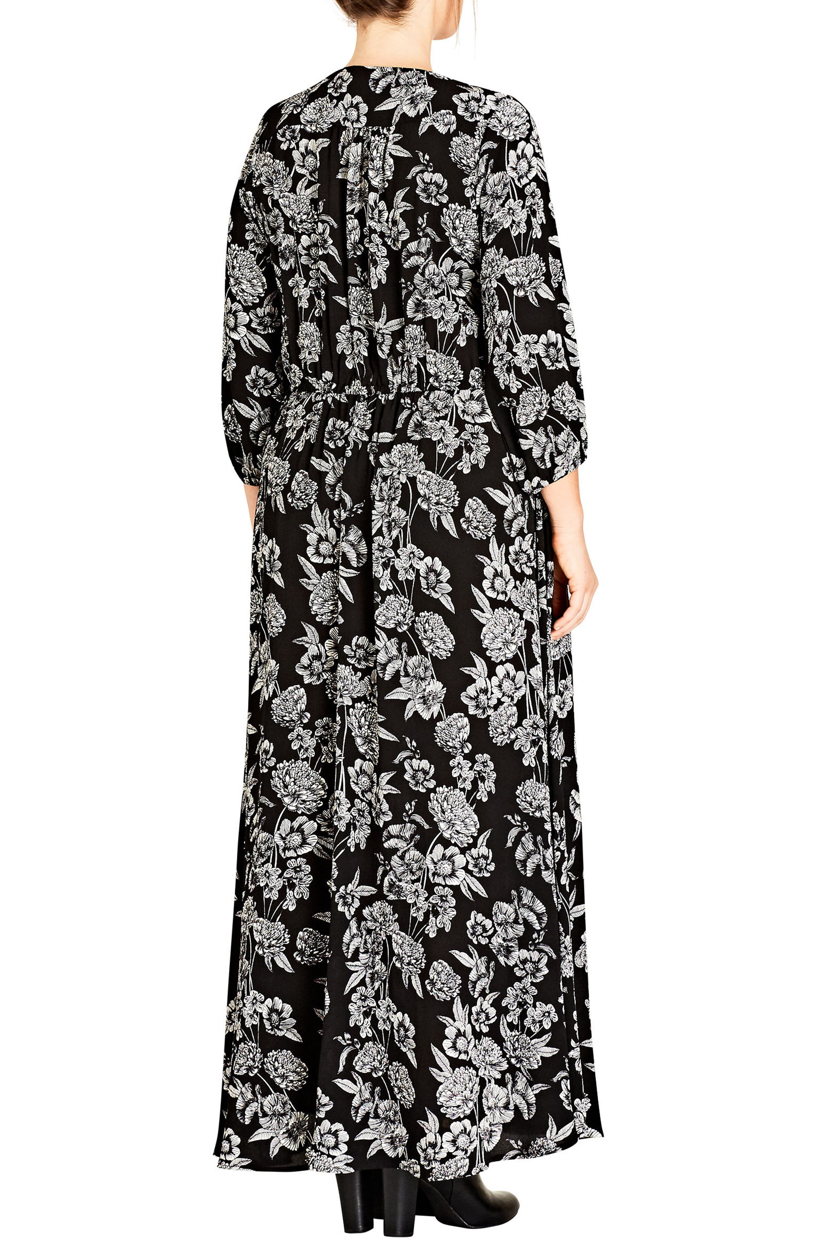 Alternate Image 2  - City Chic Bloomsbury Maxi Dress (Plus Size)