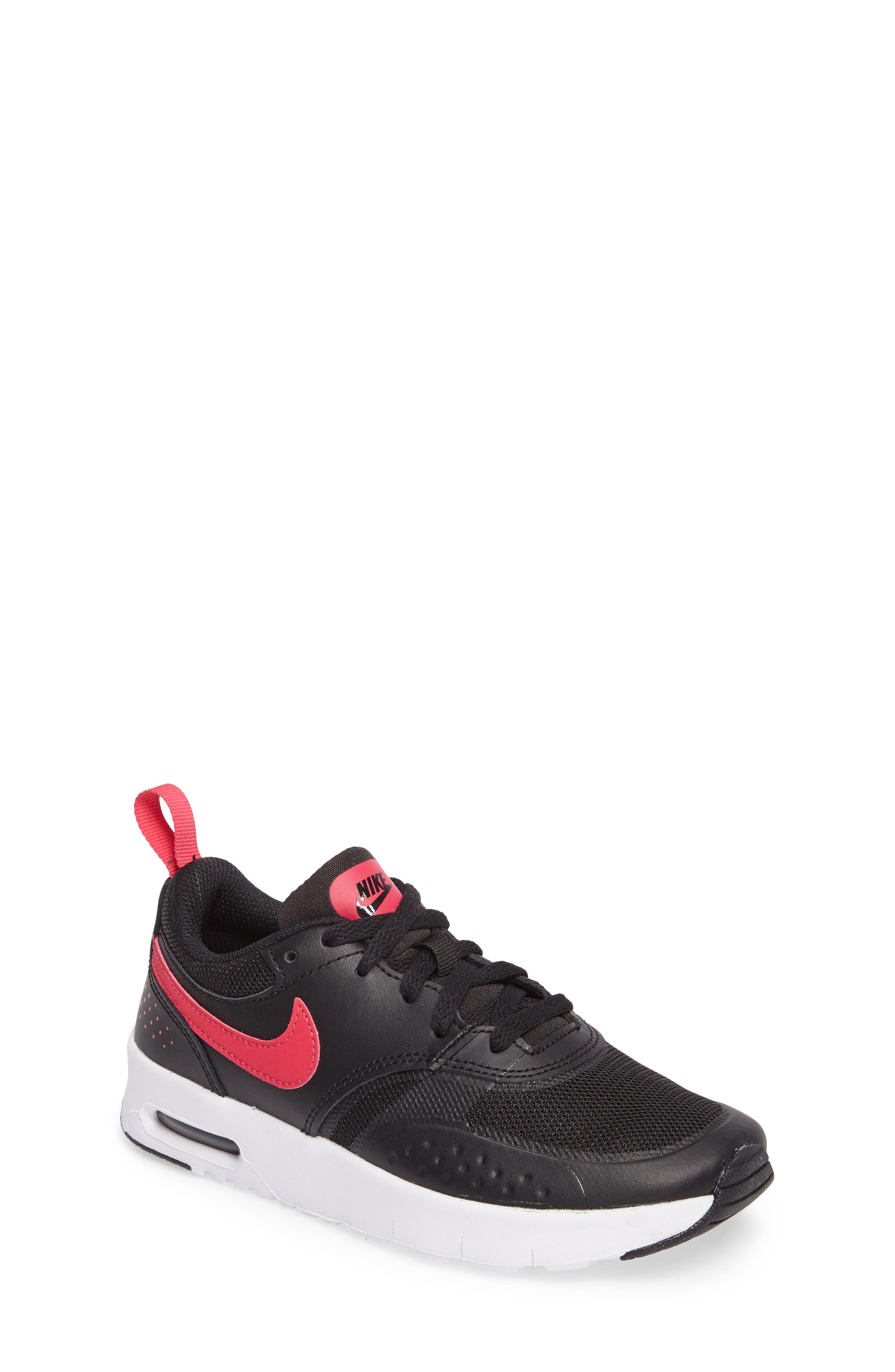 Air Max Vision Sneaker,                             Main thumbnail 1, color,                             Black/ Pink