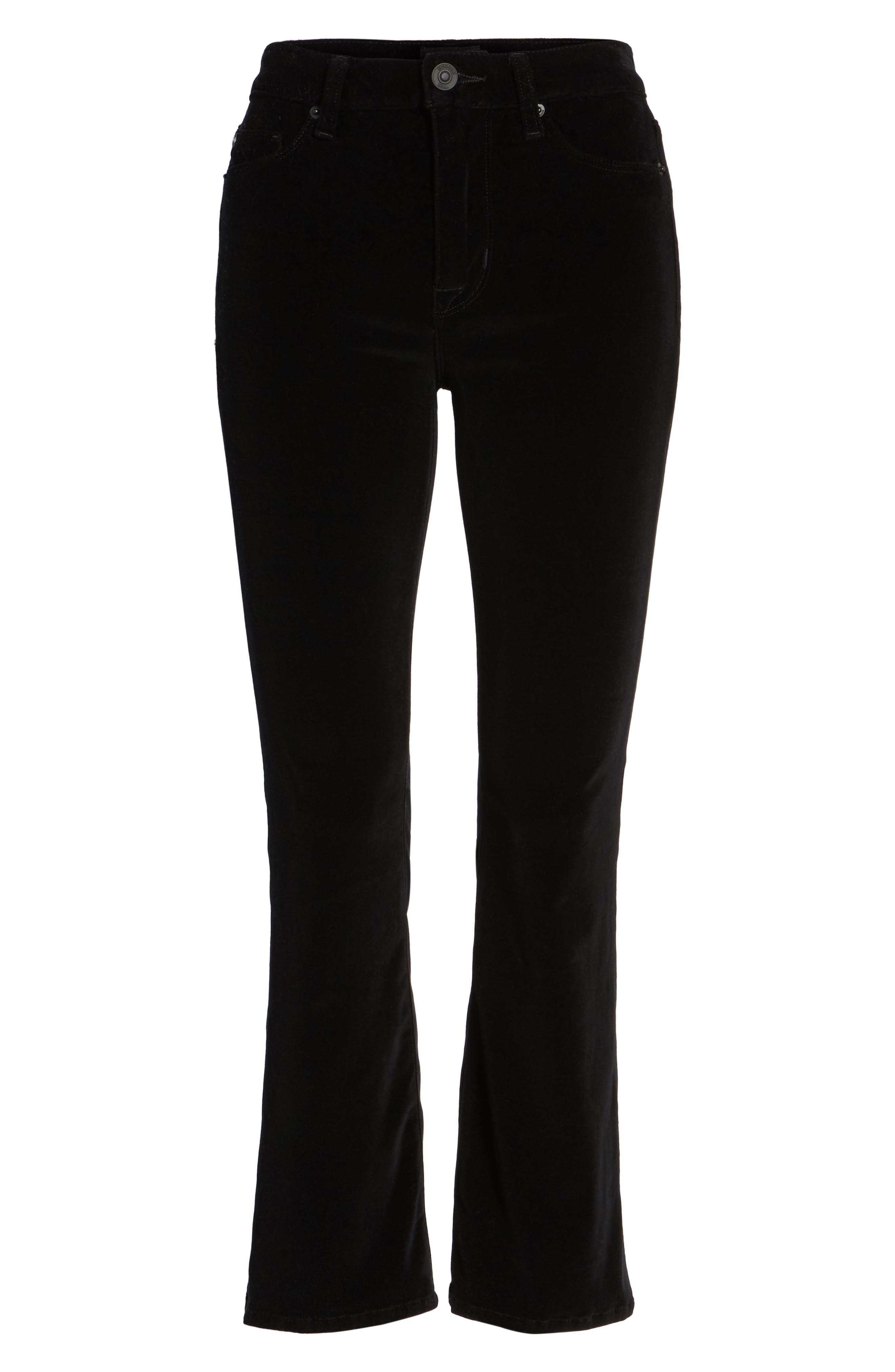 Alternate Image 6  - Hudson Jeans Brix Velvet High Waist Crop Bootcut Pants