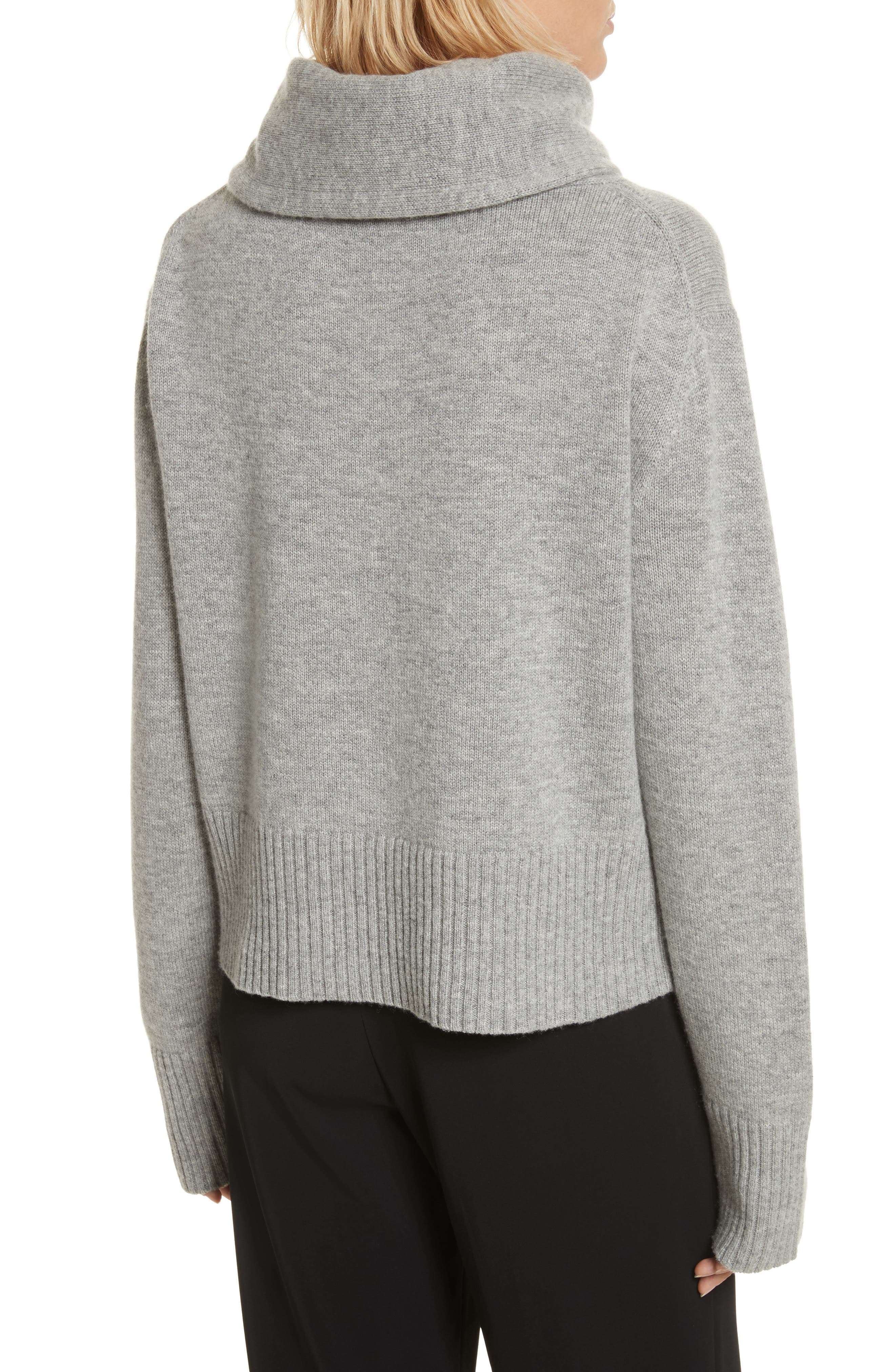 Archie Funnel Neck Wool & Cashmere Sweater,                             Alternate thumbnail 2, color,                             Husky
