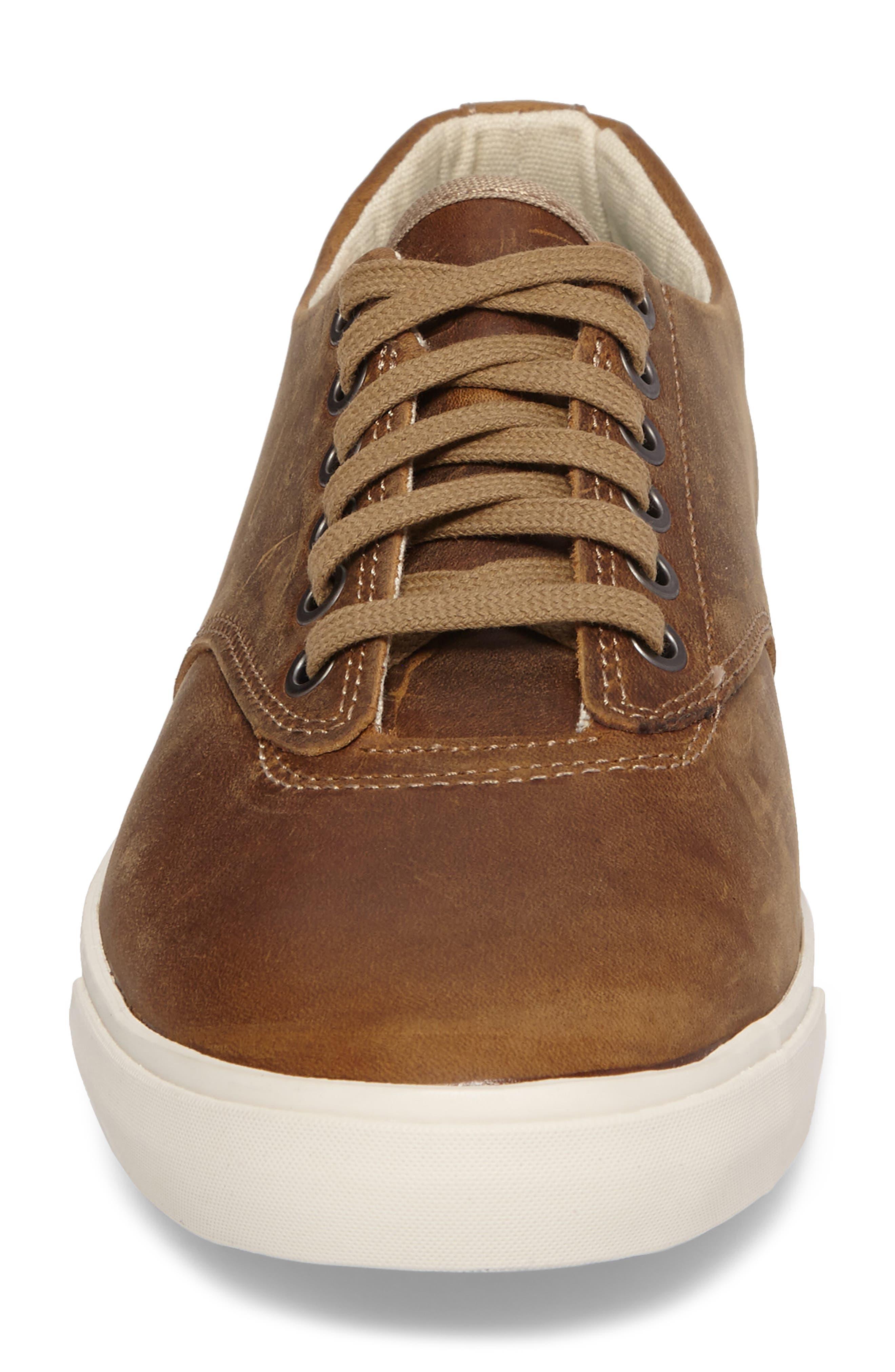 Hermosa Plimsoll Wintertide Sneaker,                             Alternate thumbnail 4, color,                             Elmwood Leather
