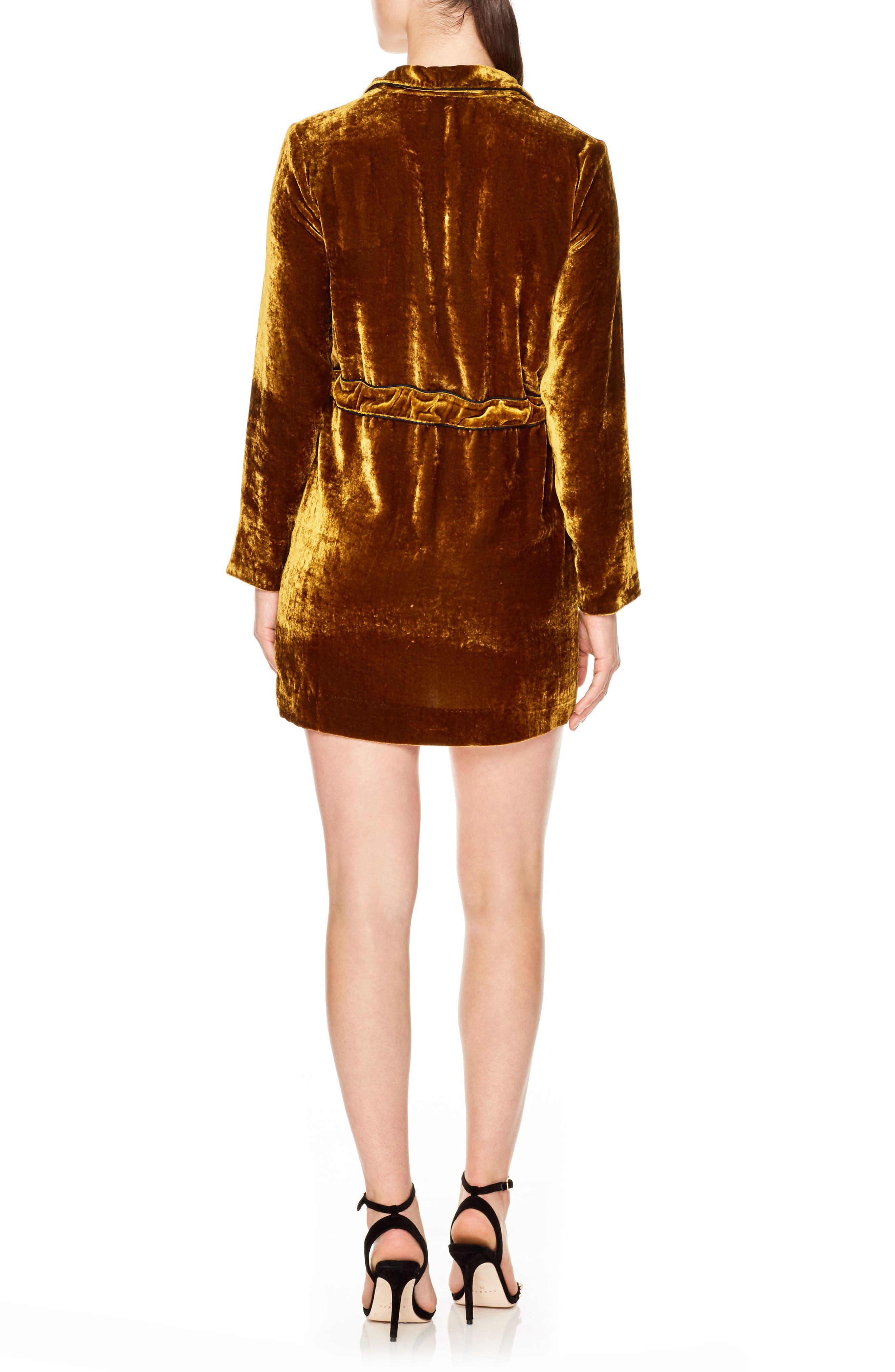 Alternate Image 2  - sandro Eline Velvet Minidress