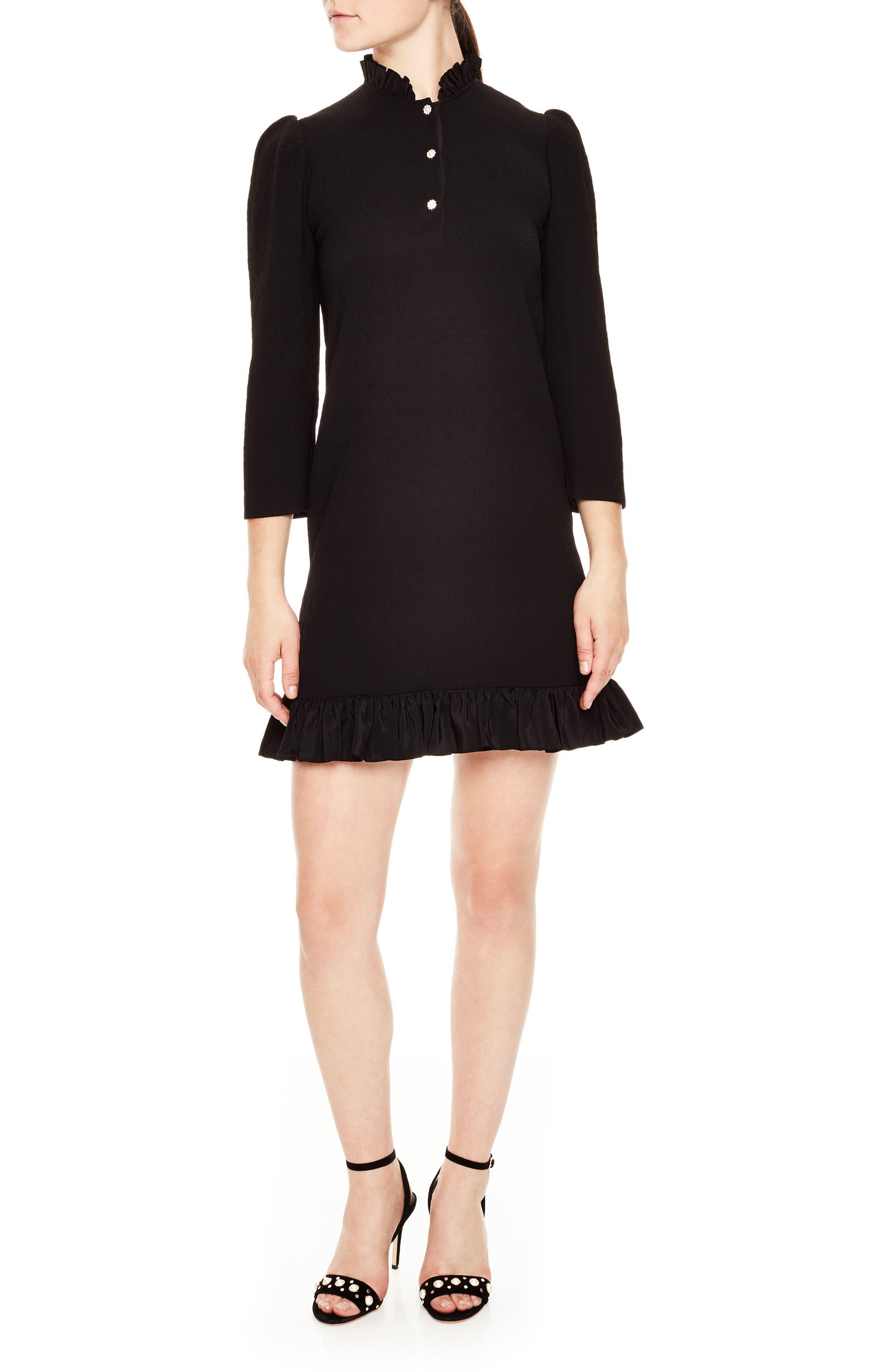 sandro Felice Ruffle Textured Dress
