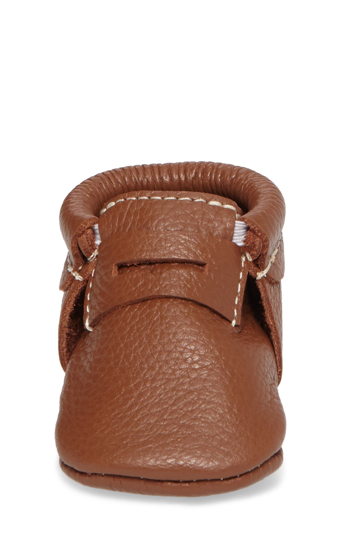 Penny Loafer Crib Shoe,                             Alternate thumbnail 4, color,                             Cognac
