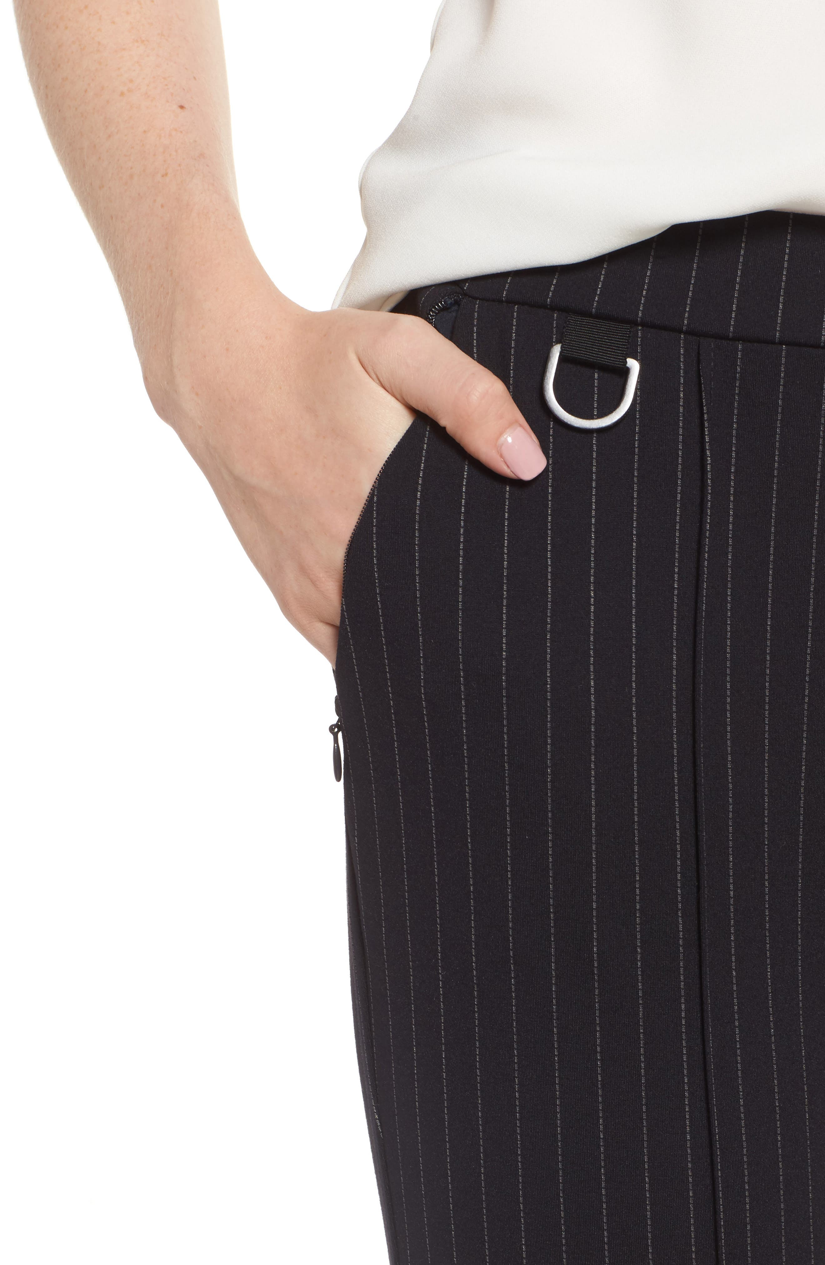 Alternate Image 4  - Kenneth Cole New York Pinstripe Leggings