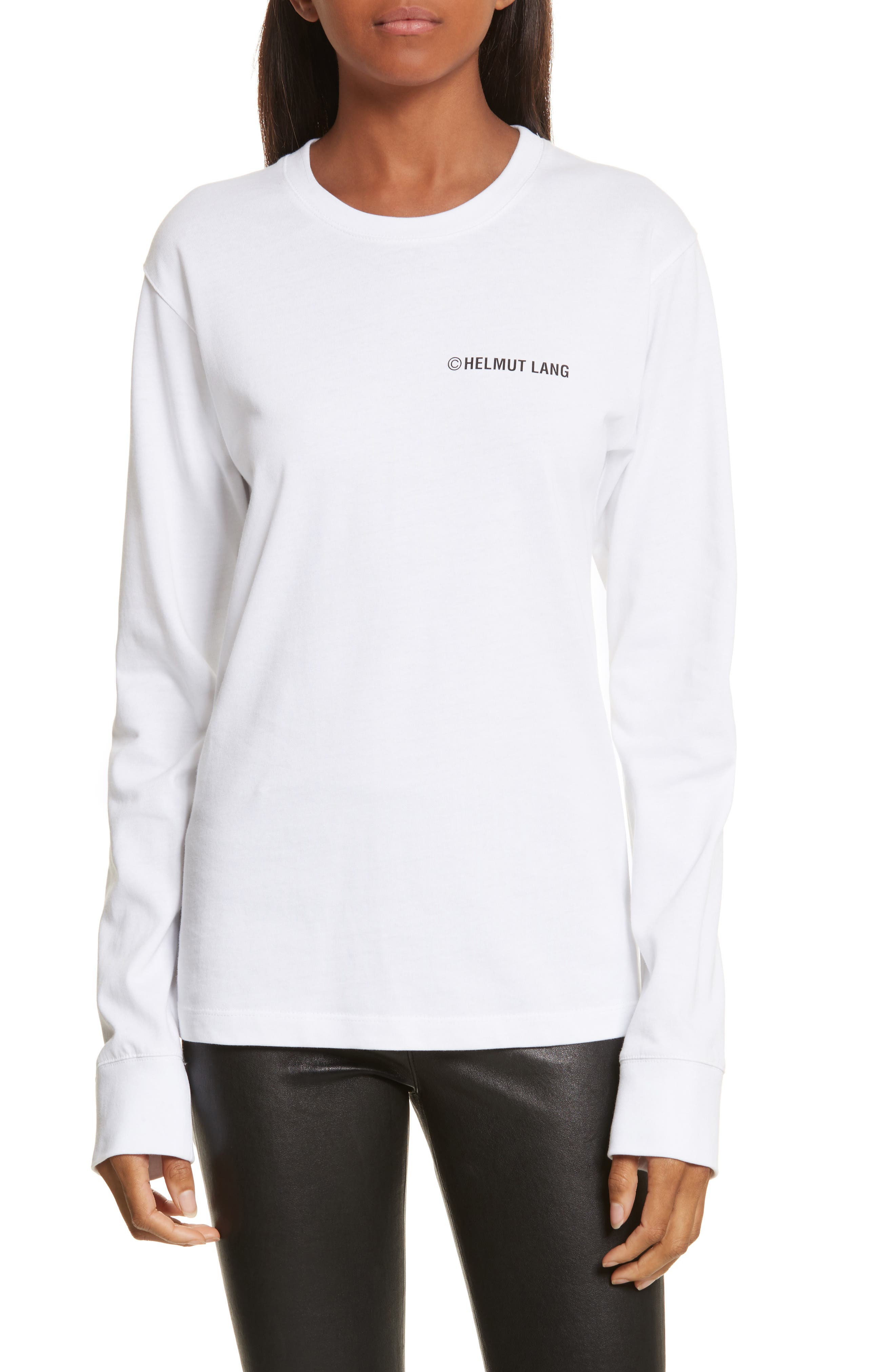 Taxi Long Sleeve Tee,                         Main,                         color, White