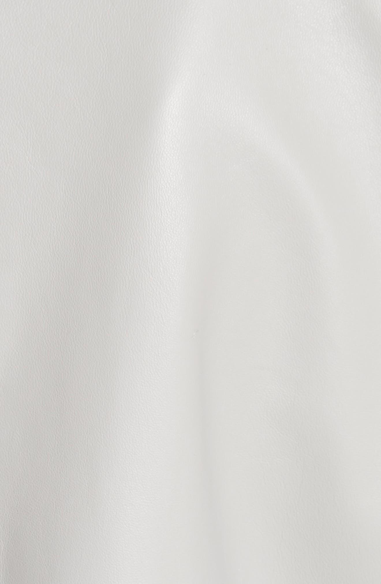 Studded Nappa Leather Jacket,                             Alternate thumbnail 5, color,                             Grey