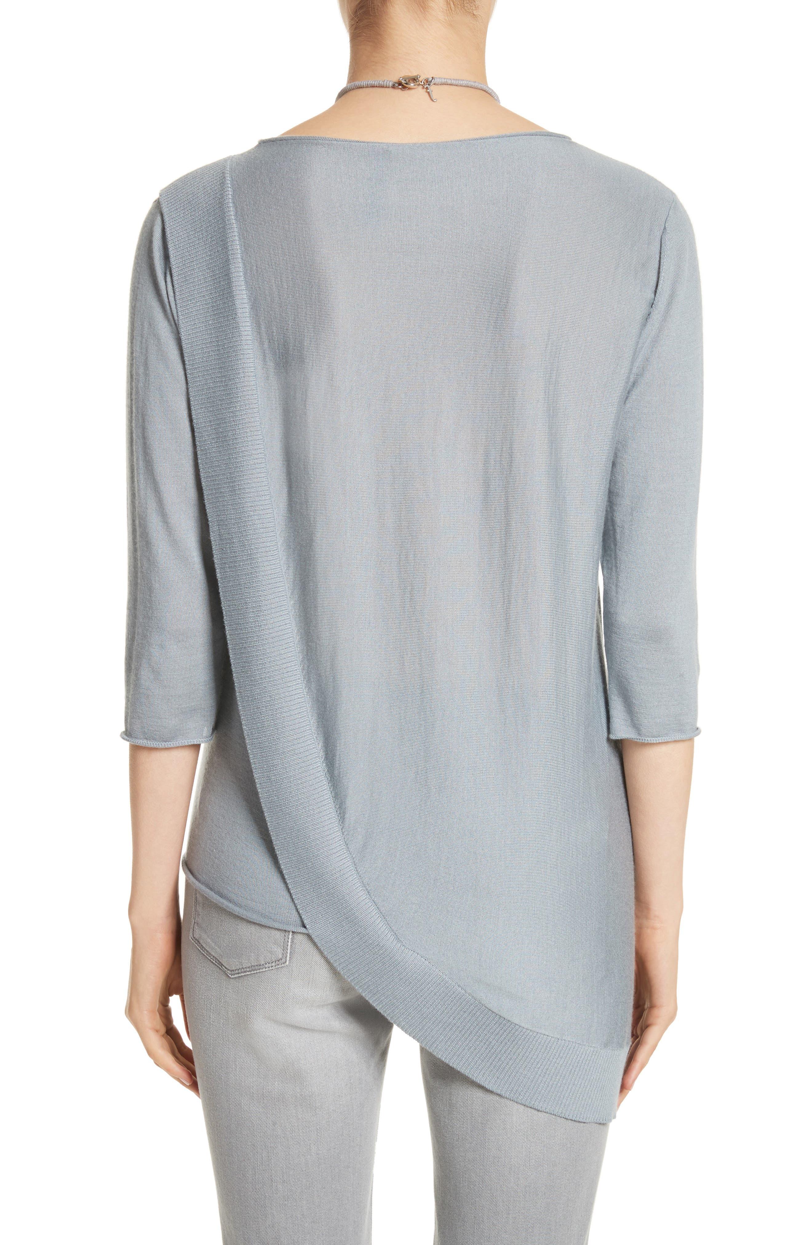 Alternate Image 2  - Fabiana Filippi Cashmere & Silk Drape Sweater