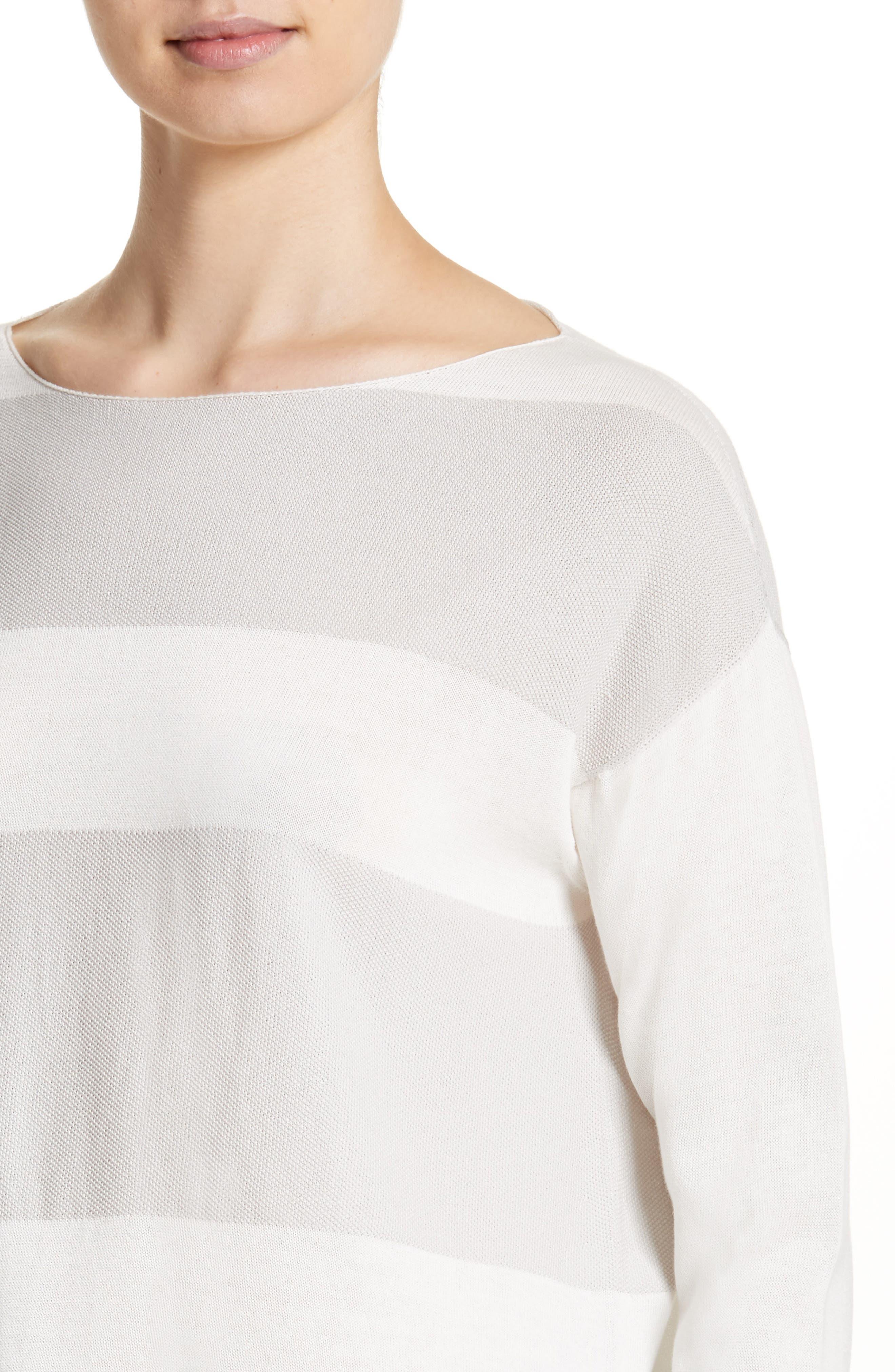 Alternate Image 4  - Fabiana Filippi Popcorn Stripe Metallic Knit Sweater