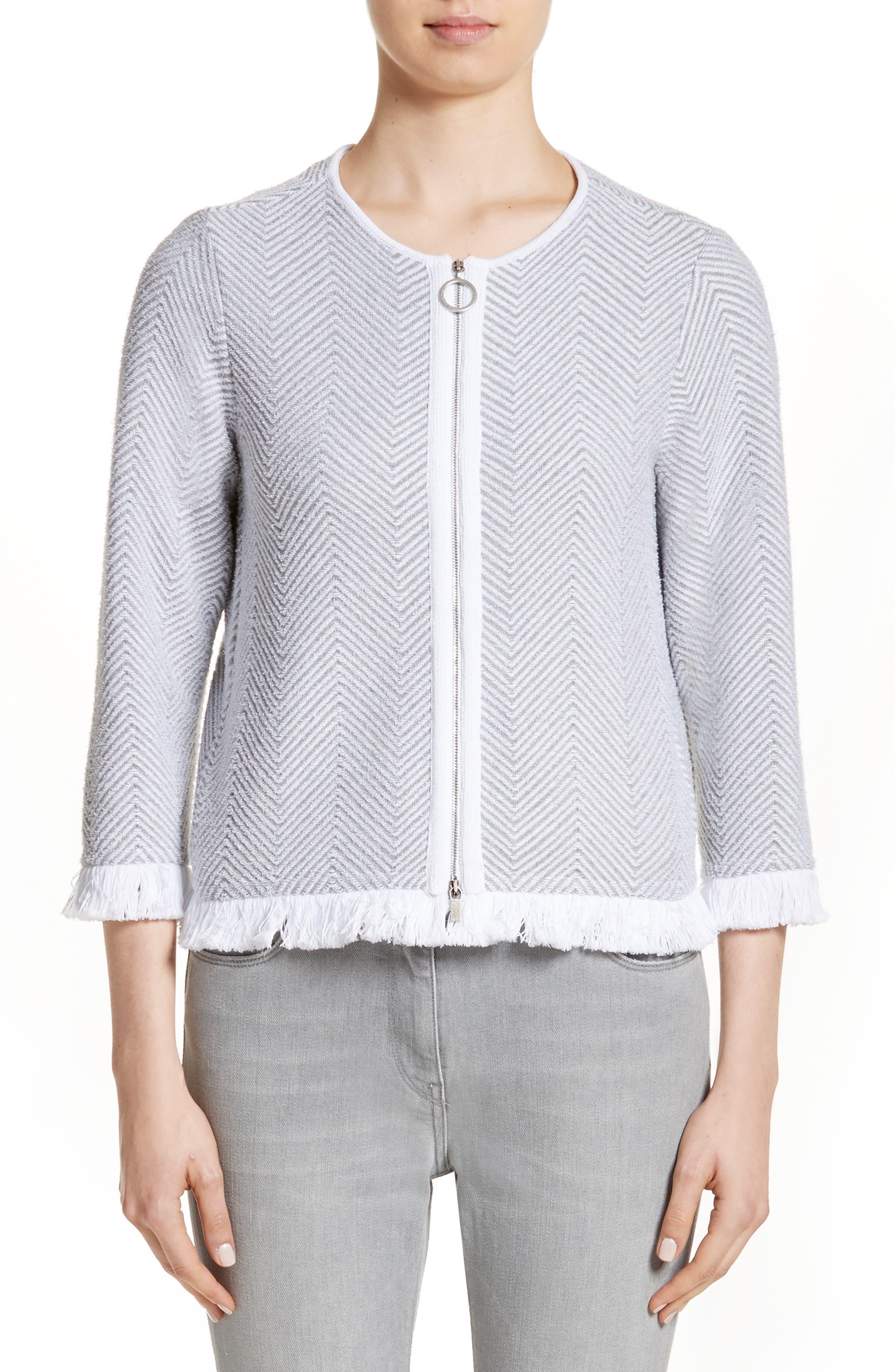 Alternate Image 1 Selected - Fabiana Filippi Chevron Knit Jacket