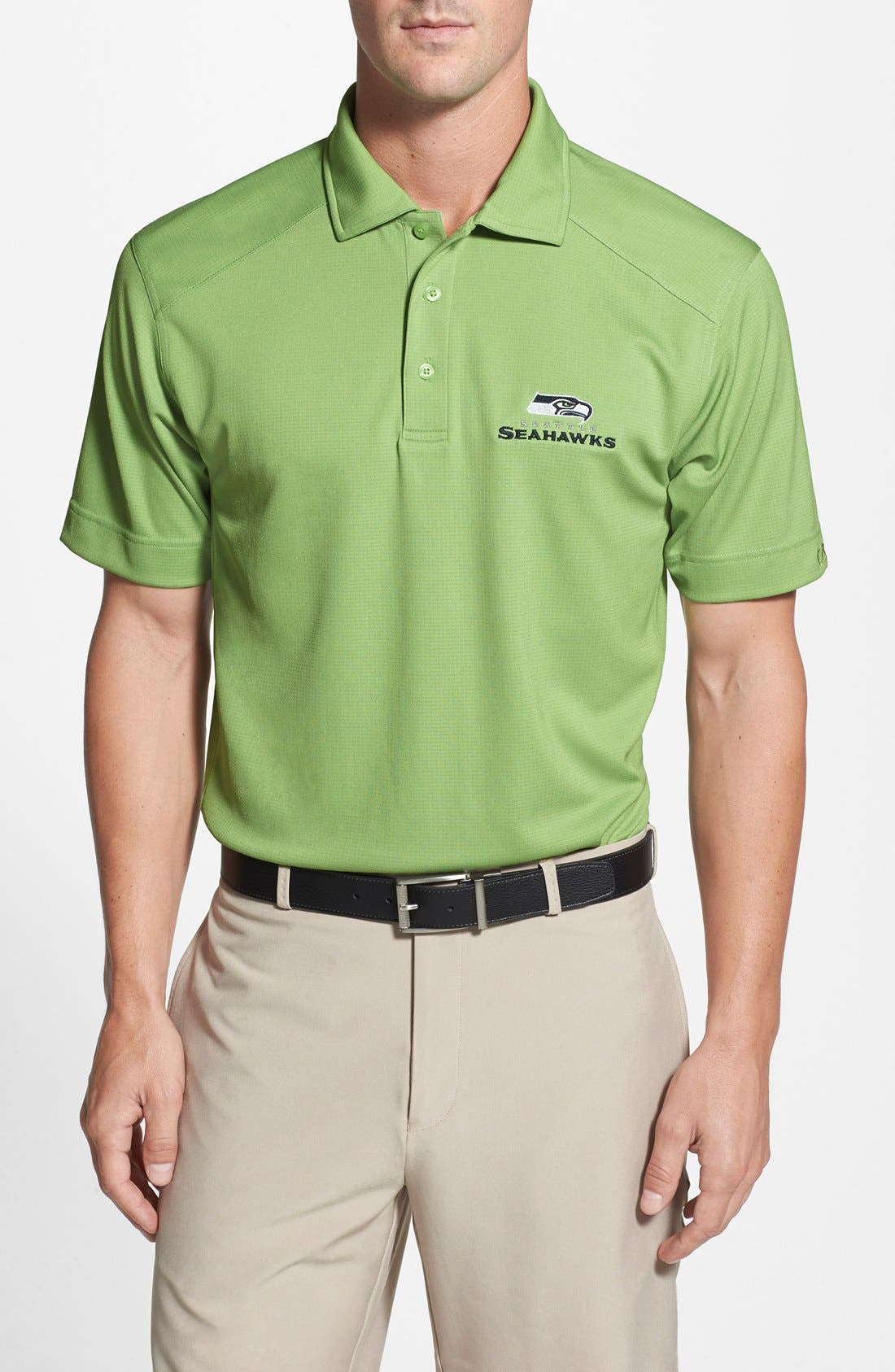 Cutter & Buck Seattle Seahawks - Genre DryTec Moisture Wicking Polo