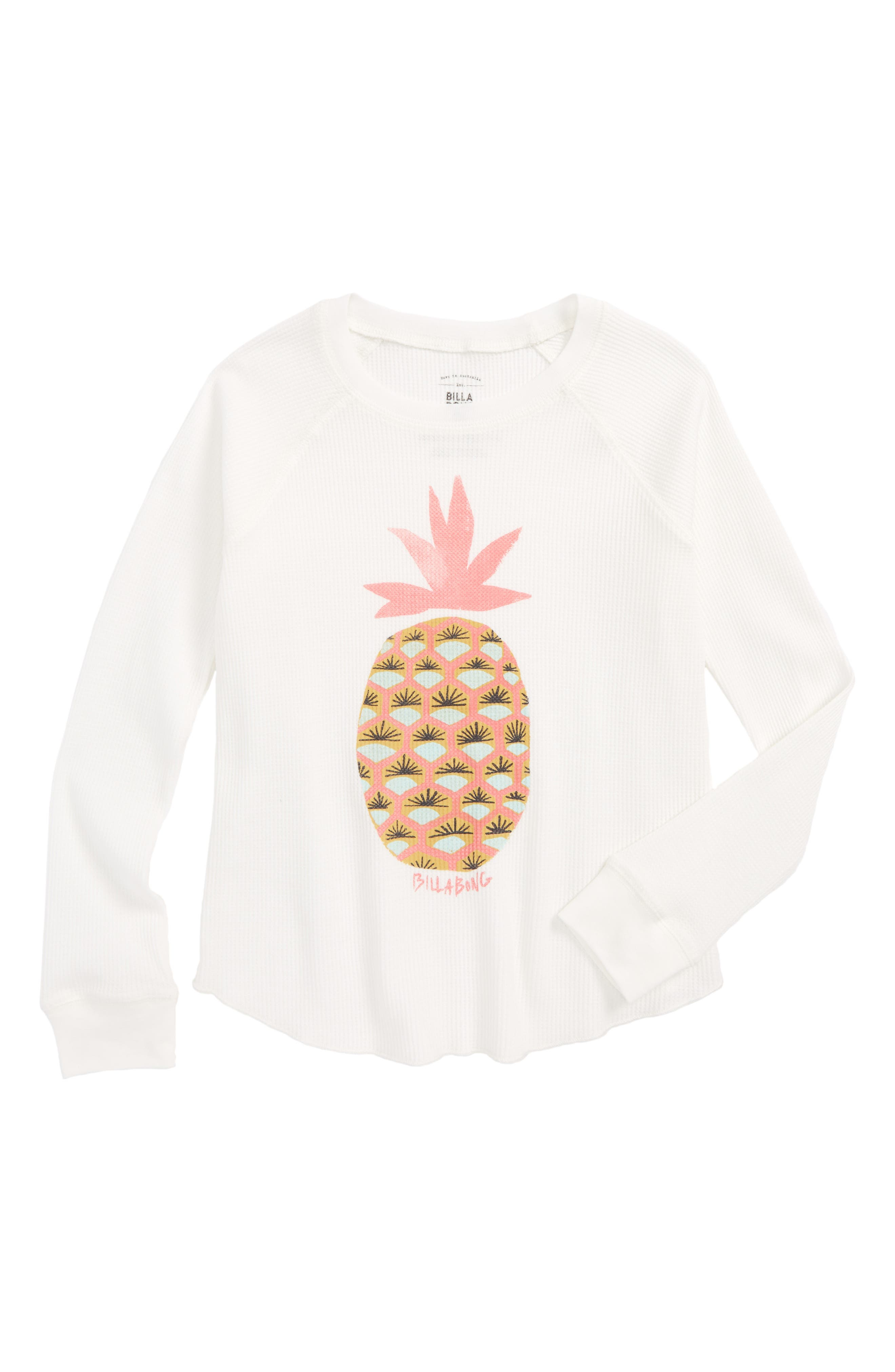 Fresh Pineapple Graphic Tee,                             Main thumbnail 1, color,                             Cool Whip