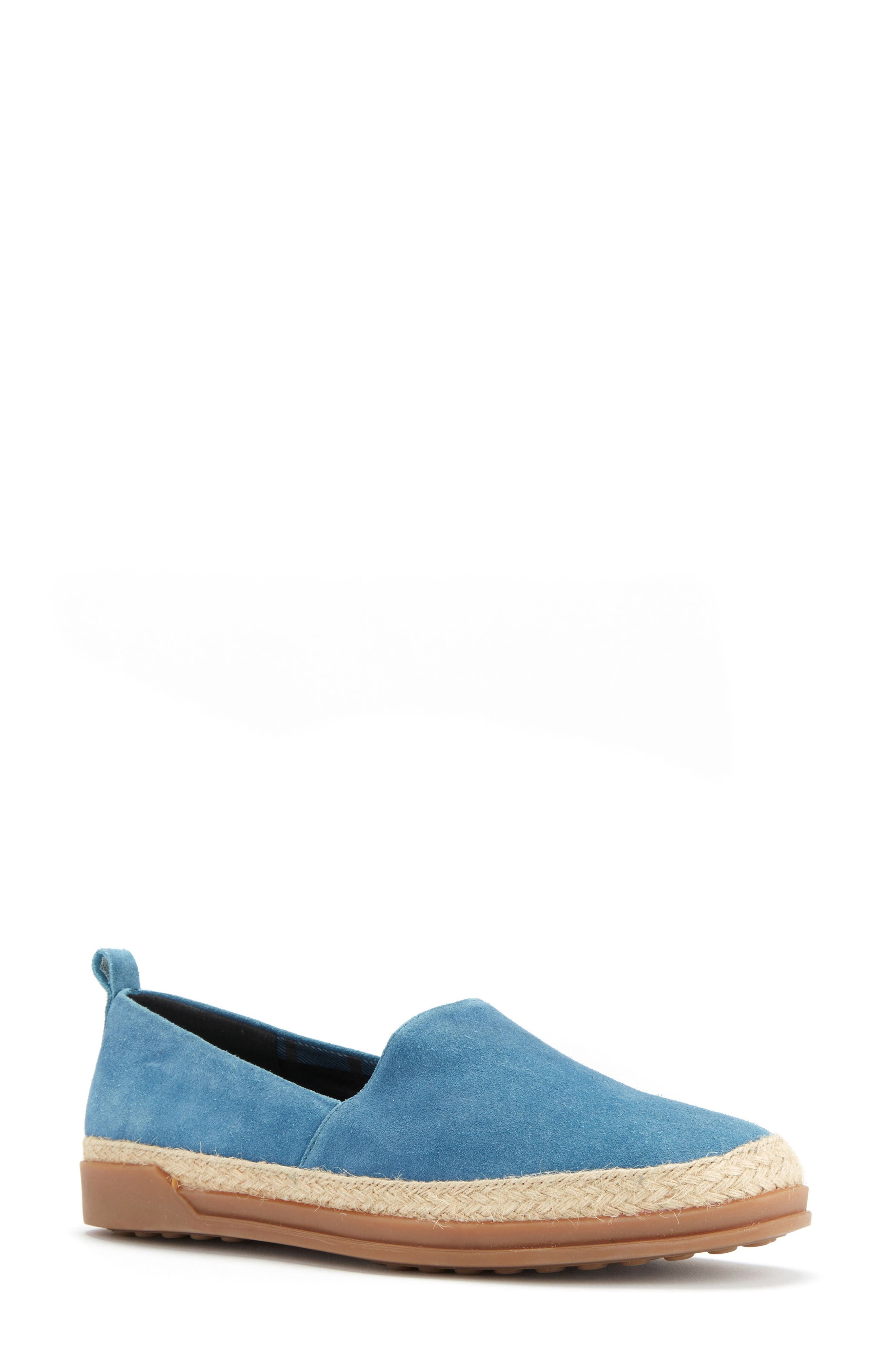 Bailey Espadrille Flat,                             Main thumbnail 1, color,                             Blue Suede