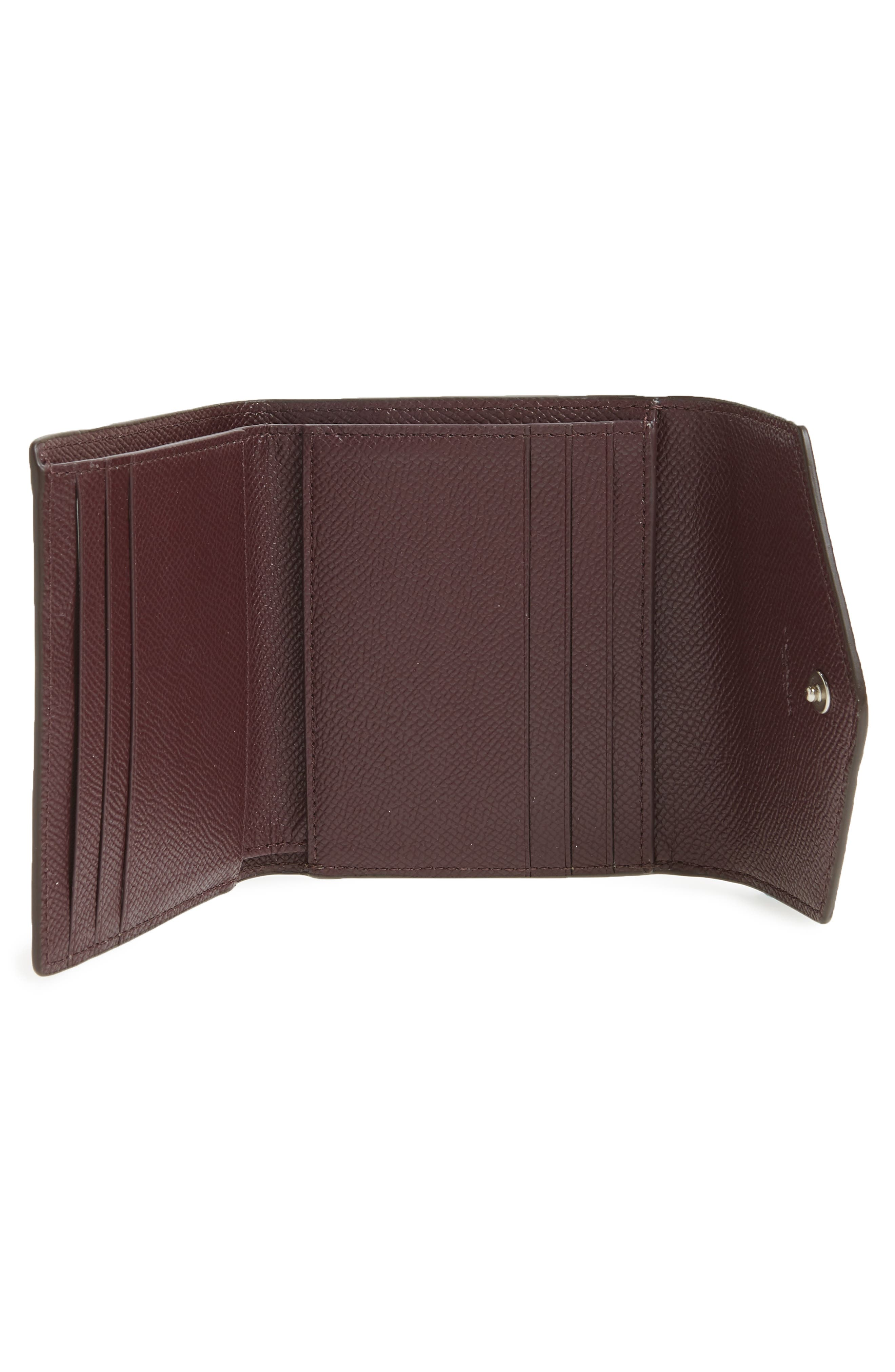 Small Colorblock Calfskin Leather Wallet,                             Alternate thumbnail 2, color,                             Stone/ Melon/ Oxblood