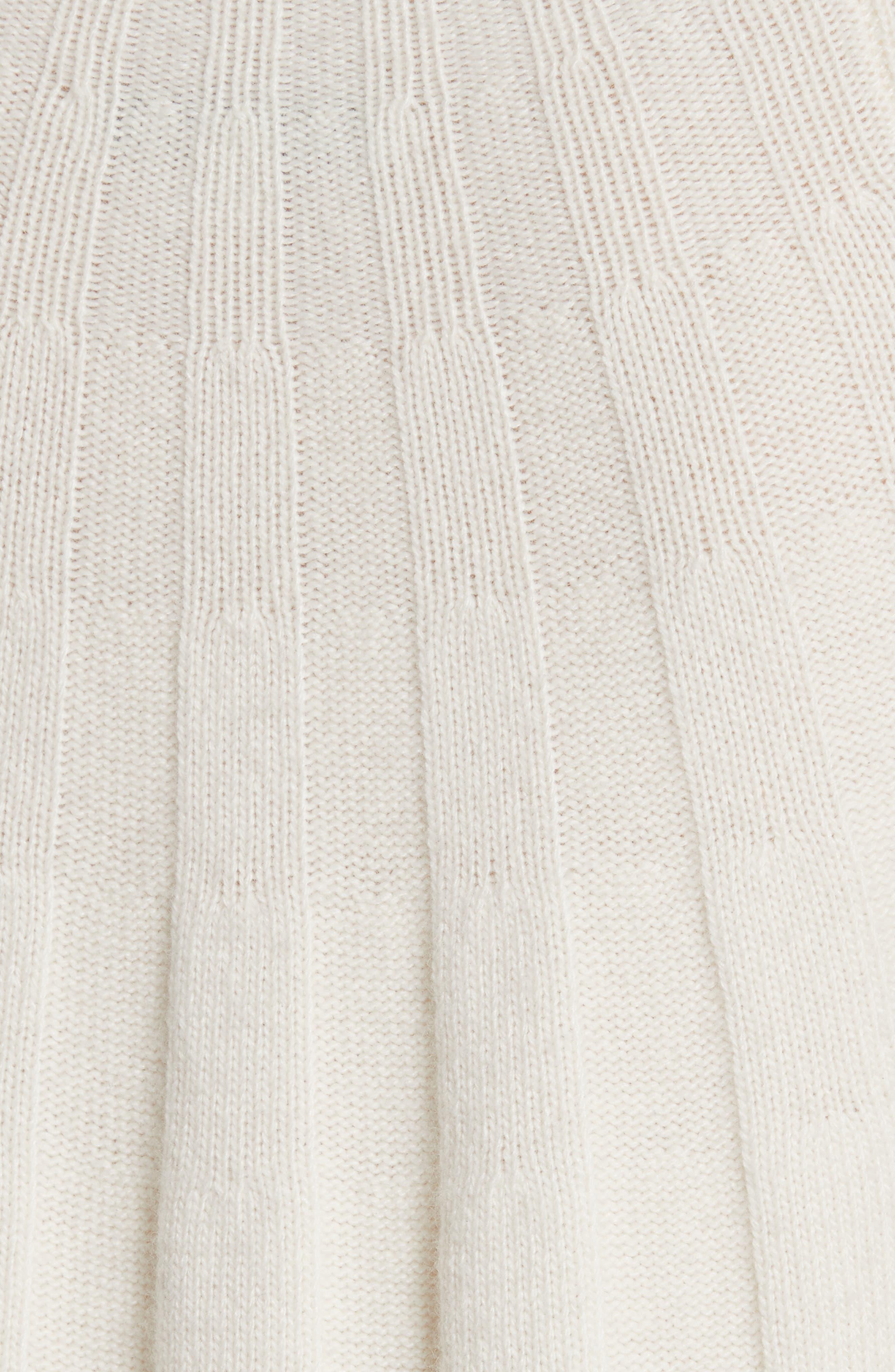 Gerri Knit Swing Dress,                             Alternate thumbnail 5, color,                             Ivory