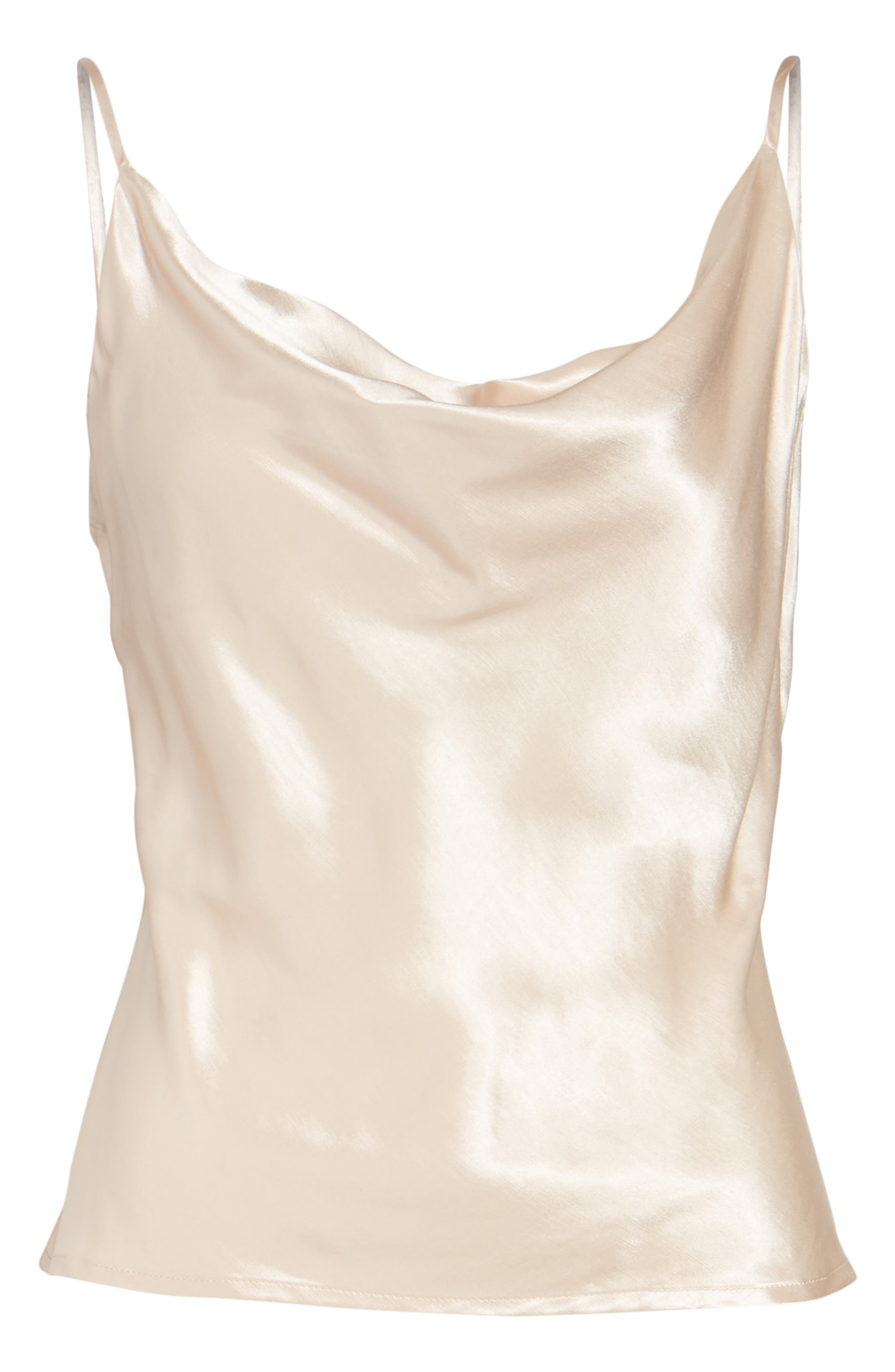 L'Academie The Cowl Camisole,                             Alternate thumbnail 6, color,                             Champagne