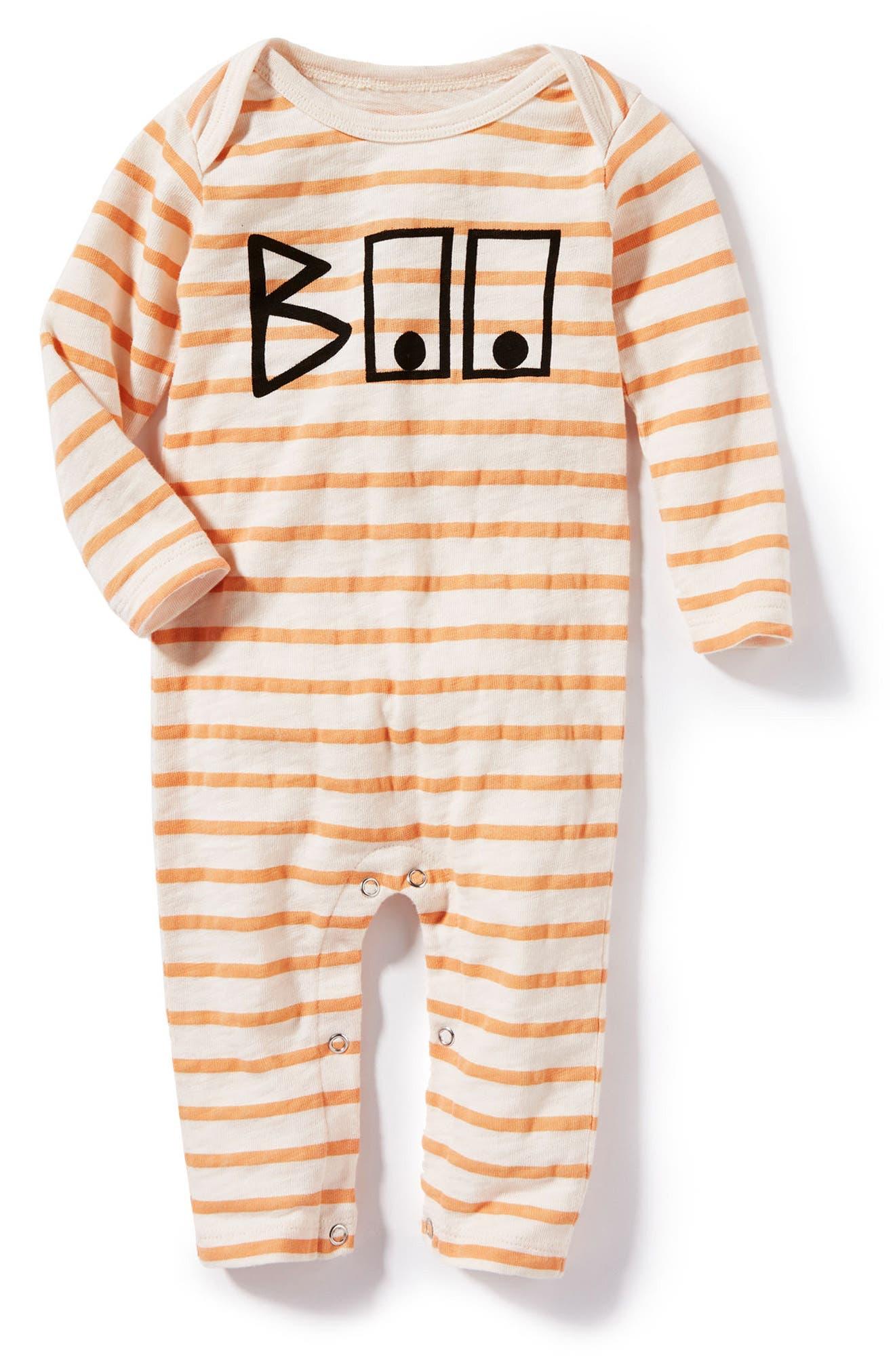 Alternate Image 1 Selected - Peek Boo Romper (Baby Girls)