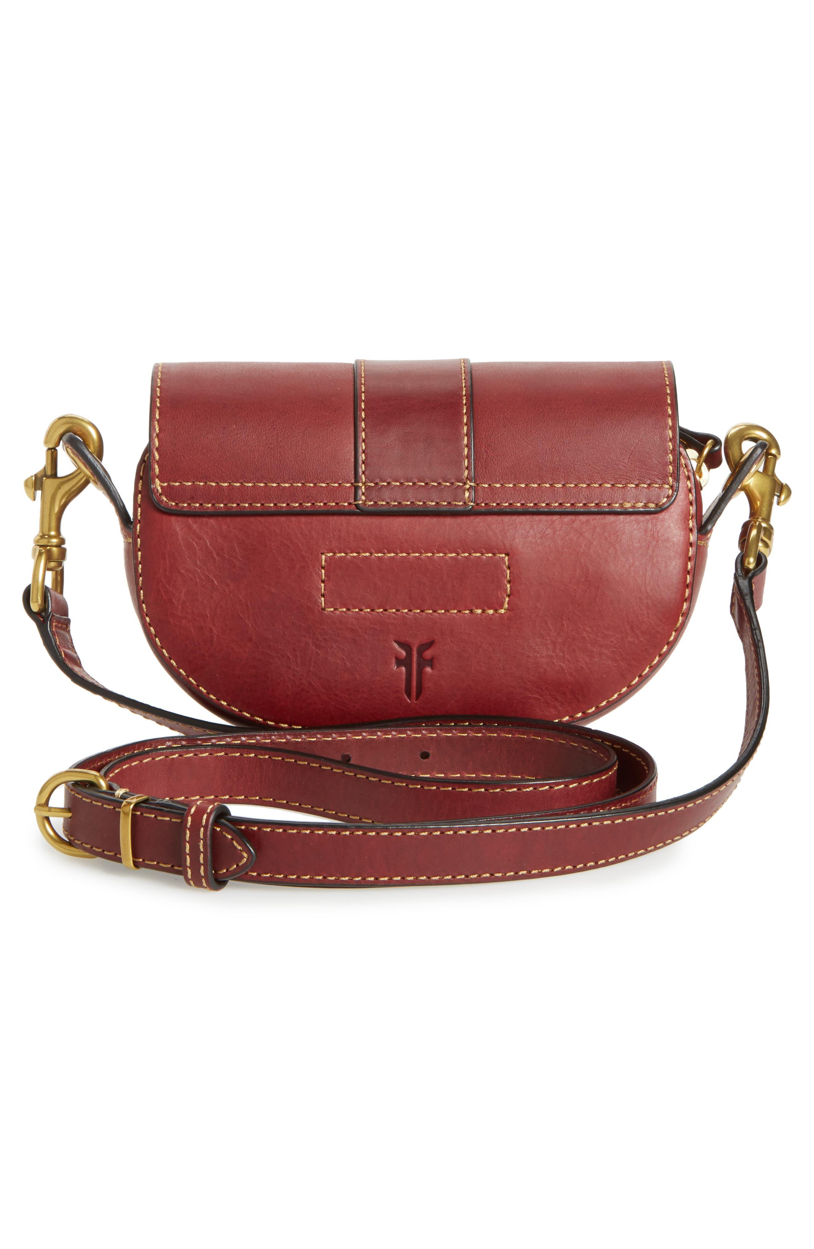 Alternate Image 2  - Frye Mini Ilana Harness Leather Saddle Bag