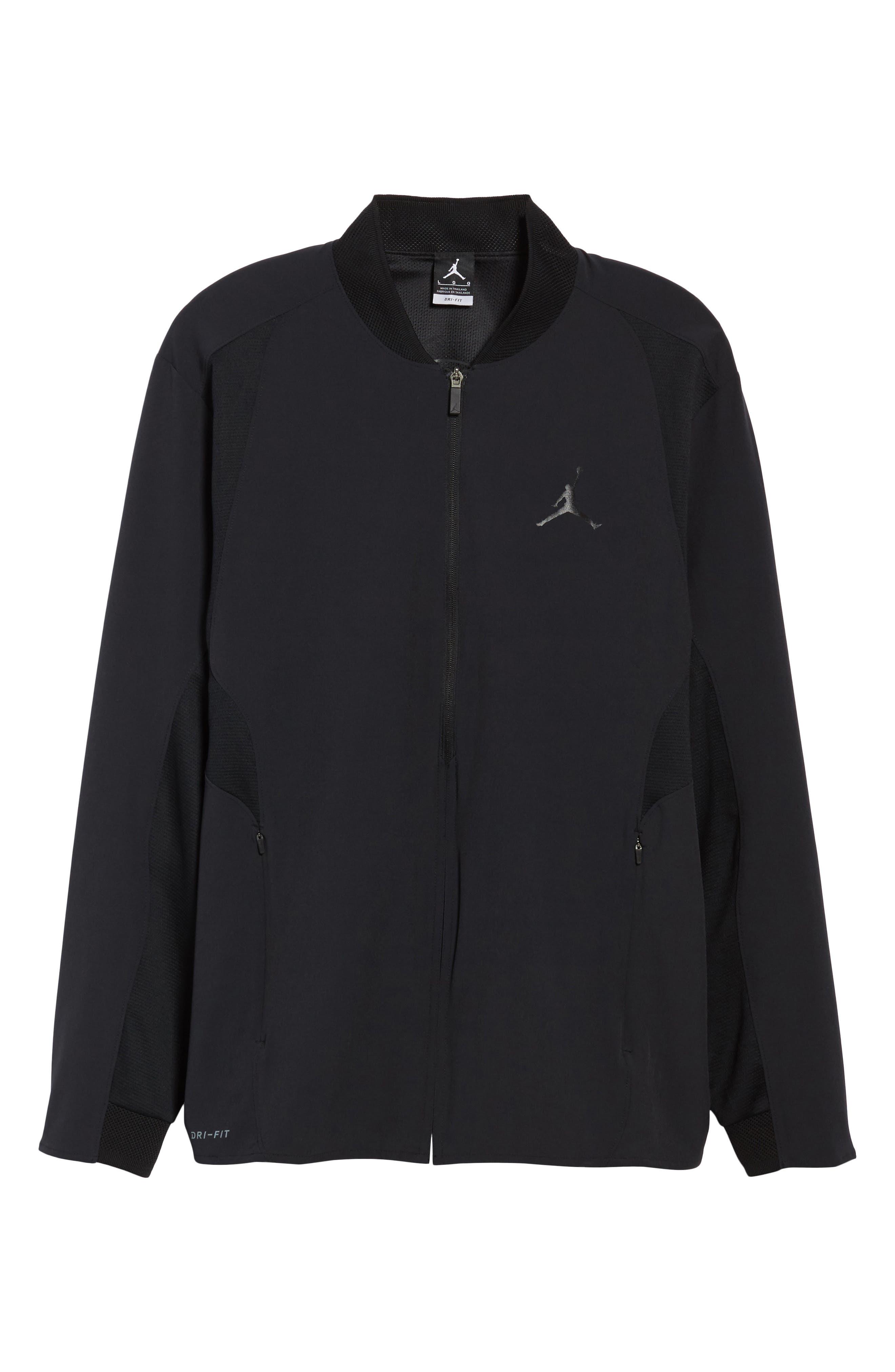 Ultimate Flight Zip Jacket,                             Alternate thumbnail 5, color,                             Black/ Black