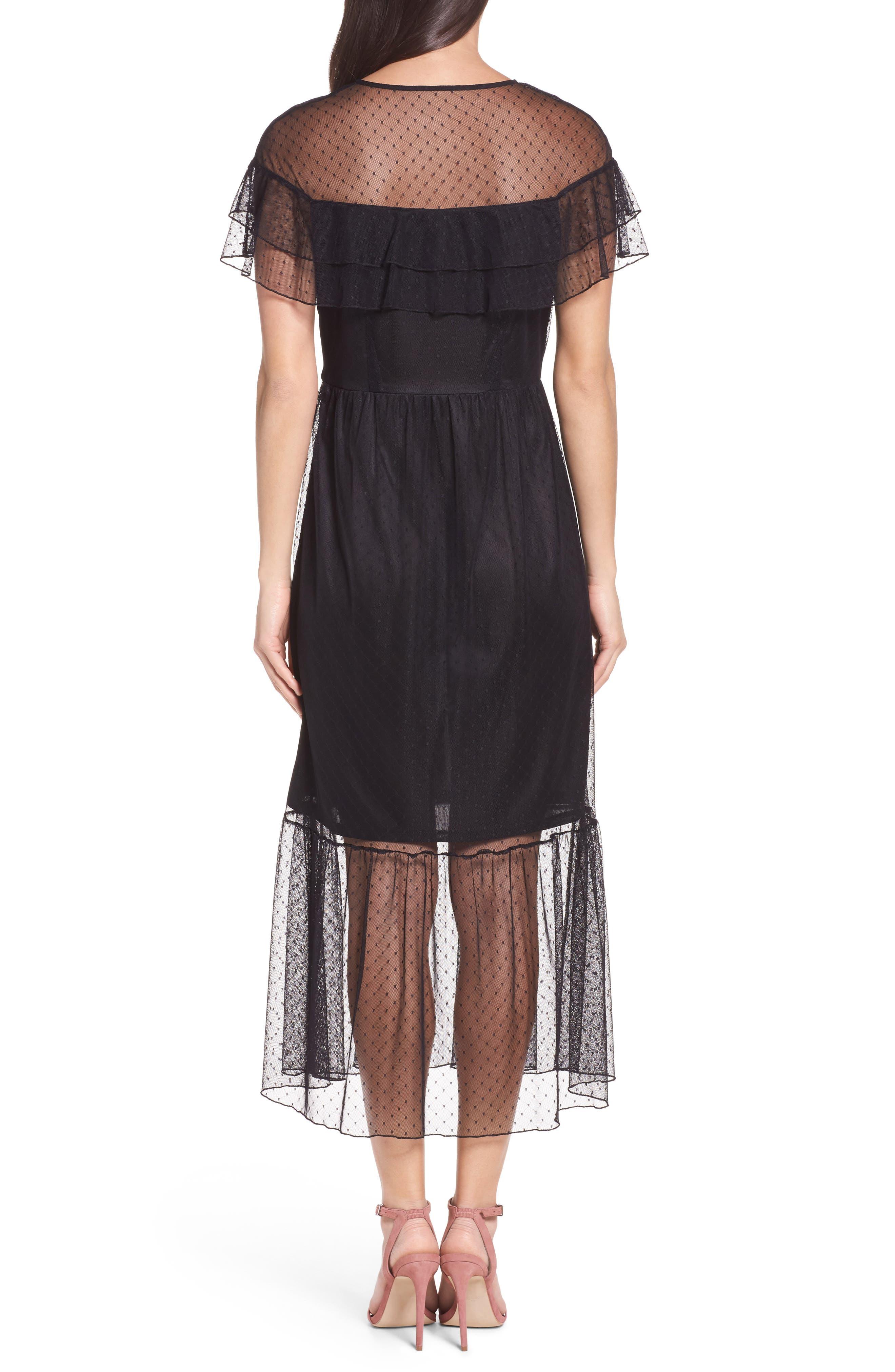 Alternate Image 2  - NSR Lace Midi Dress