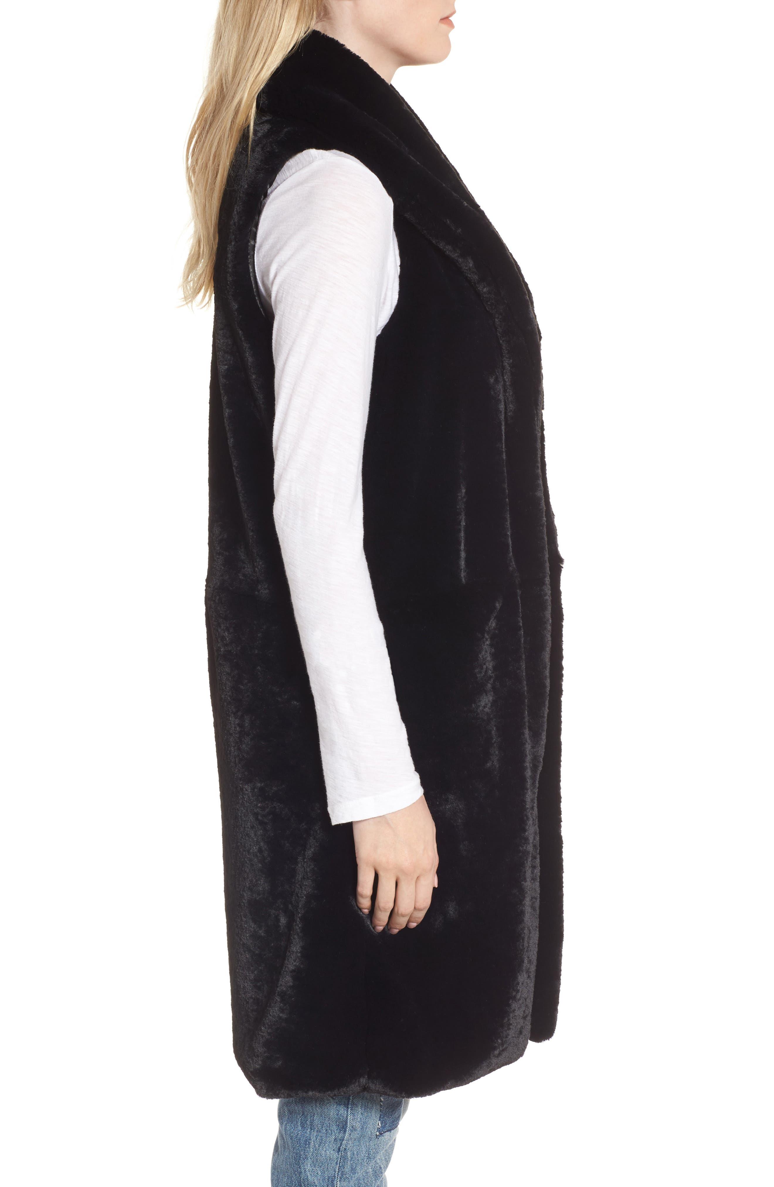Alternate Image 3  - Heurueh Heather Faux Mink Fur Vest