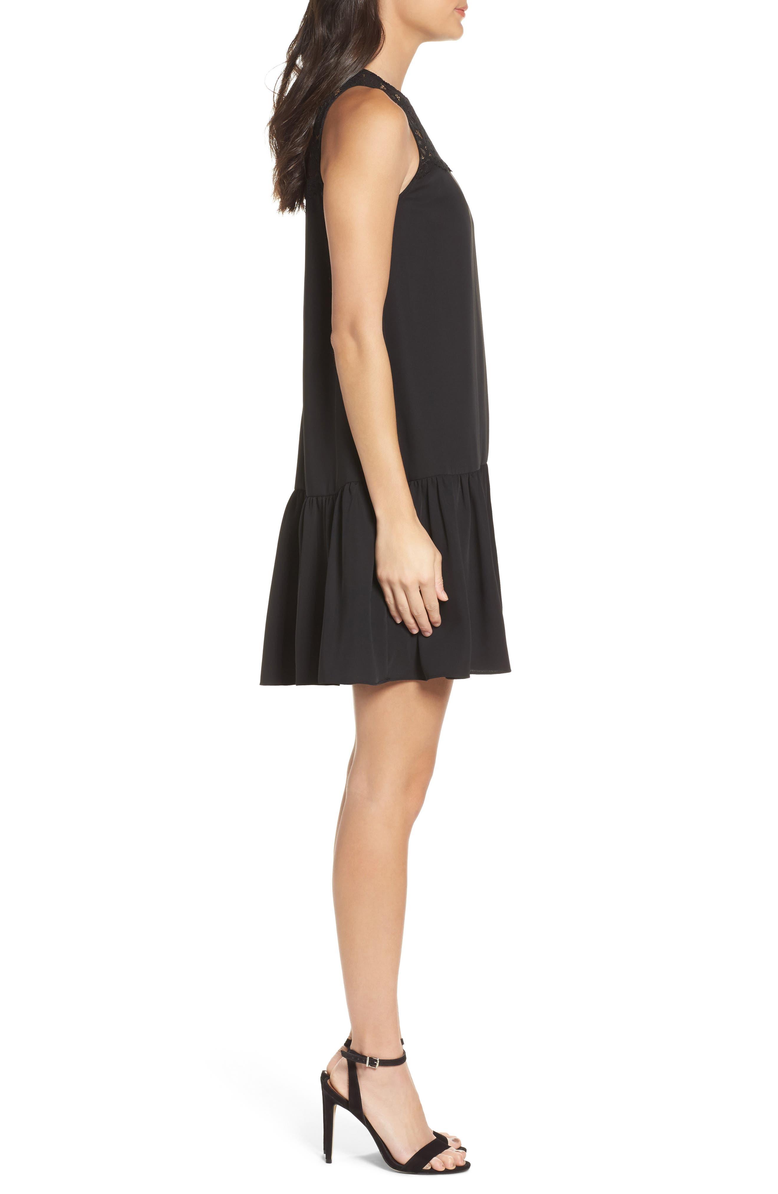 Alternate Image 3  - NSR Lace & Crepe Shift Dress