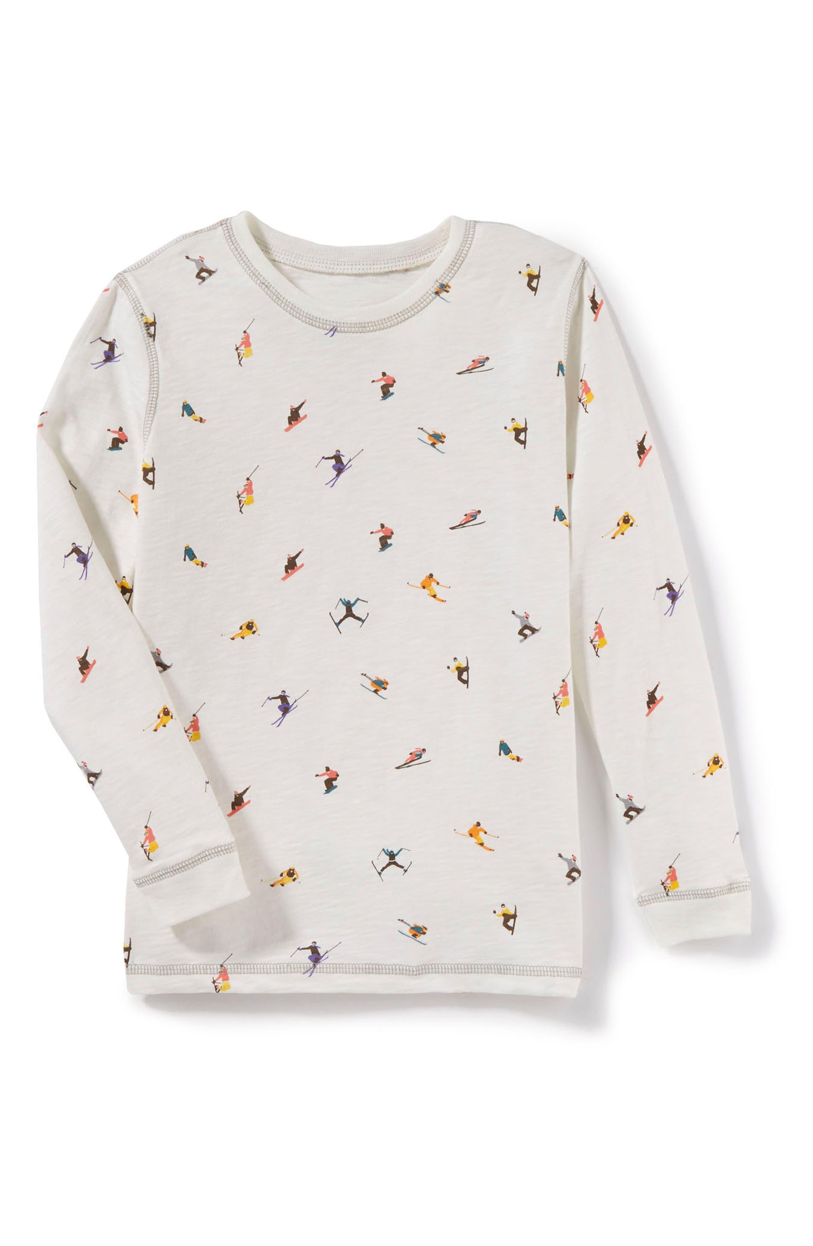 Ski Long Sleeve T-Shirt,                         Main,                         color, Ivory