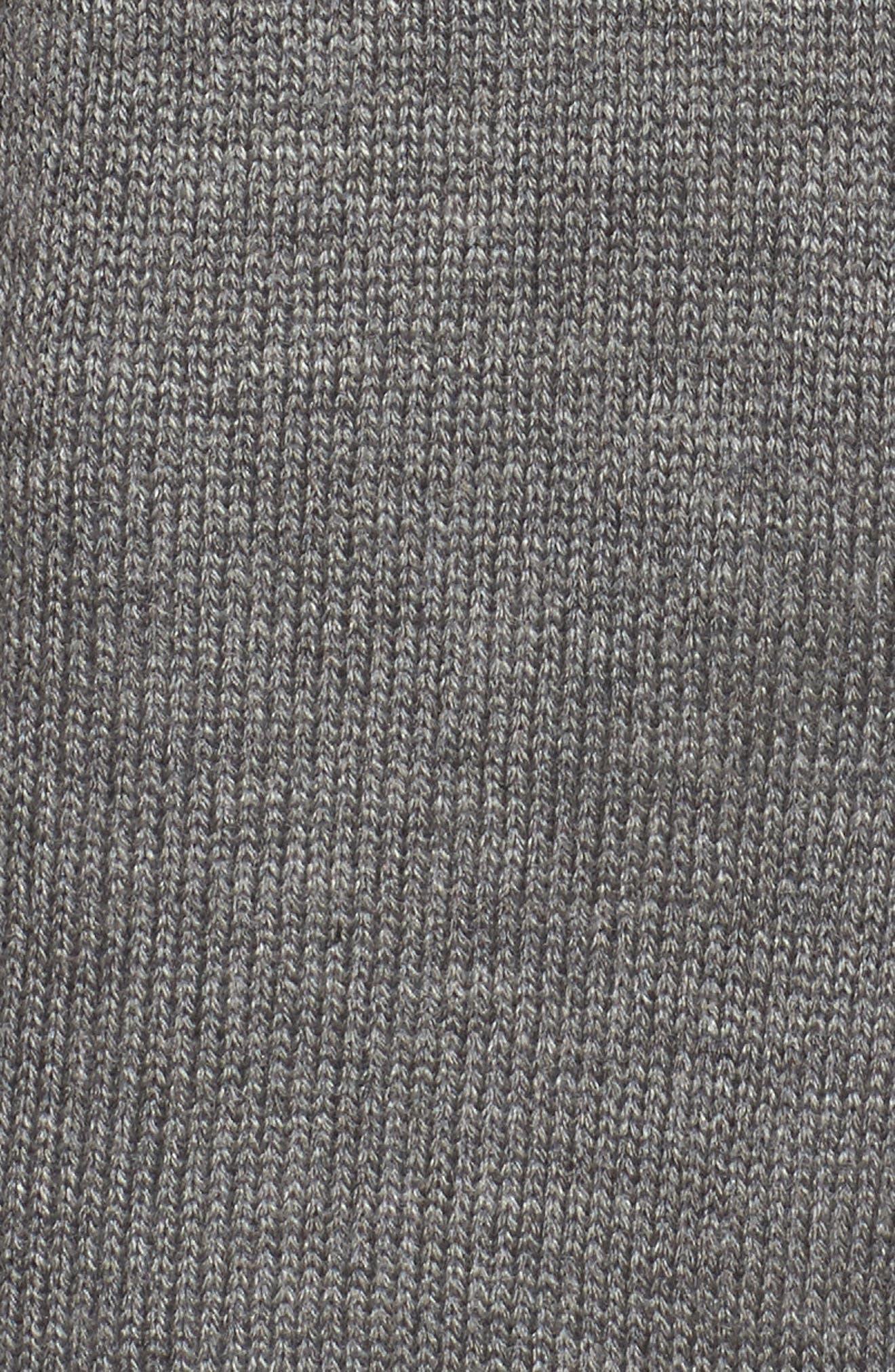 Ruffle Shoulder Cardigan,                             Alternate thumbnail 5, color,                             Grey