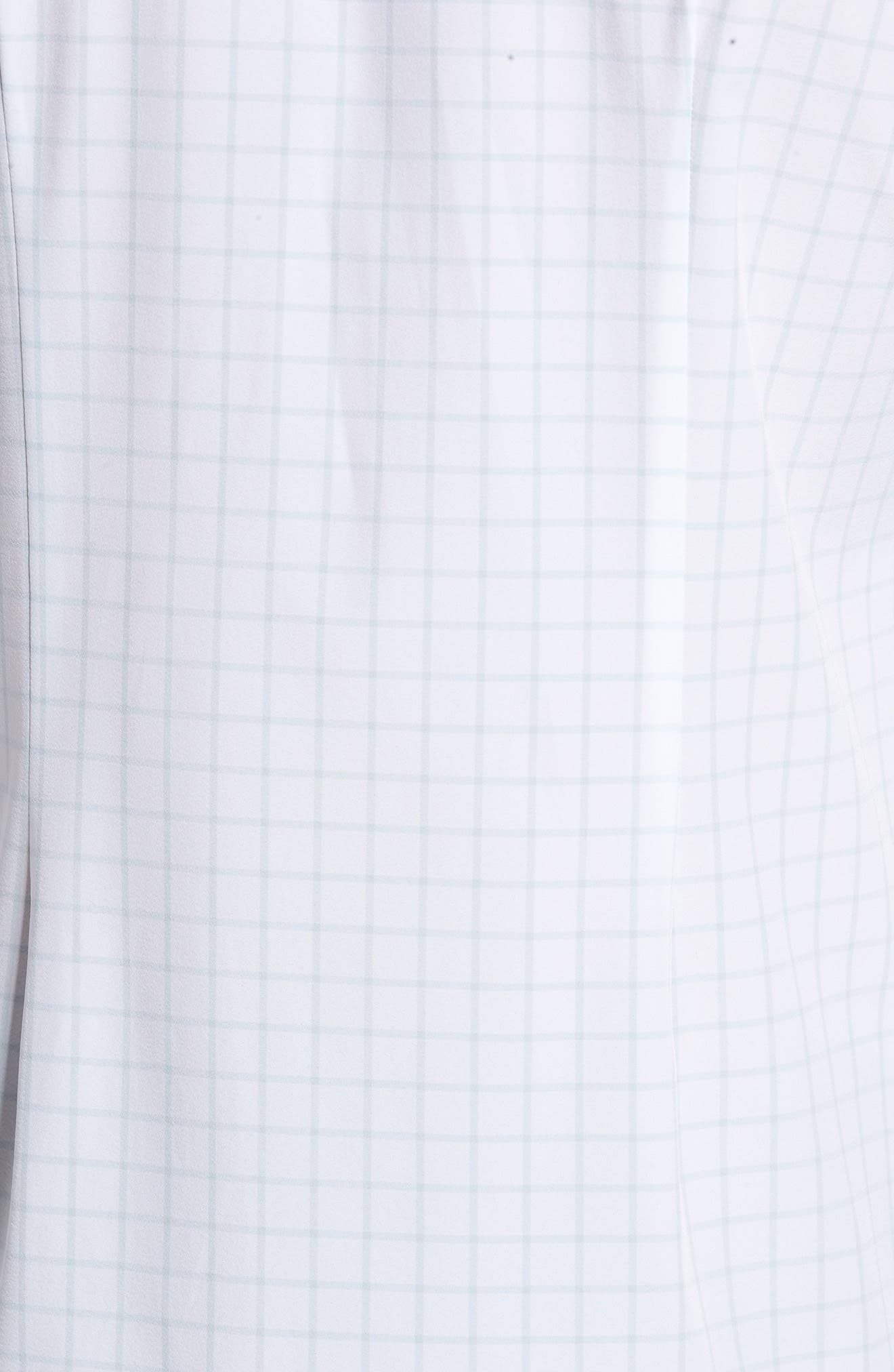 Blue Label Hull Slim Fit Crosshatch Sport Shirt,                             Alternate thumbnail 5, color,                             Blue