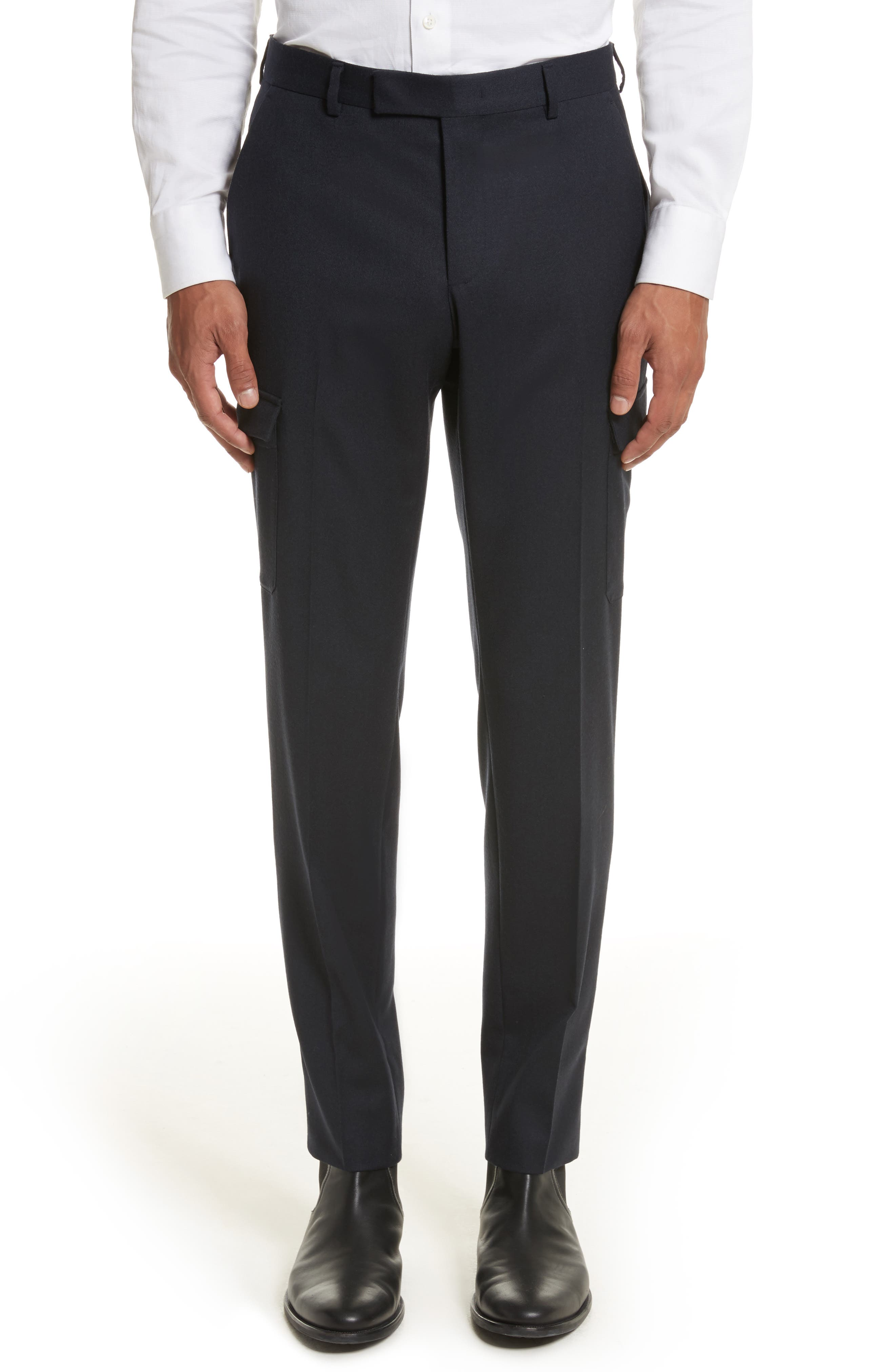 Z Zegna Regular Fit Wool Cargo Trousers