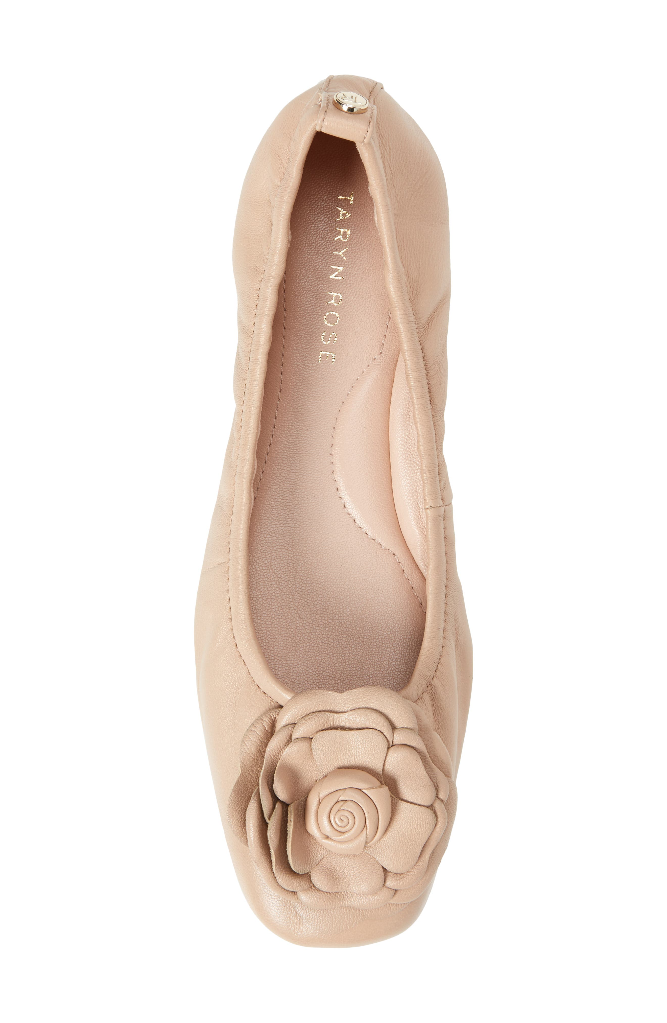 Rosalyn Ballet Flat,                             Alternate thumbnail 5, color,                             Nude Leather