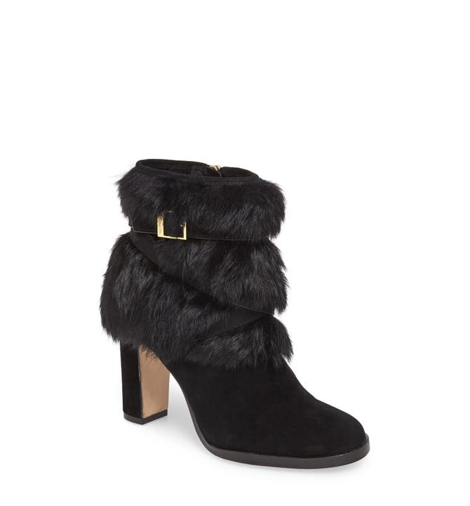 Main Image - Louise et Cie Yuma Genuine Rabbit Fur Bootie (Women)