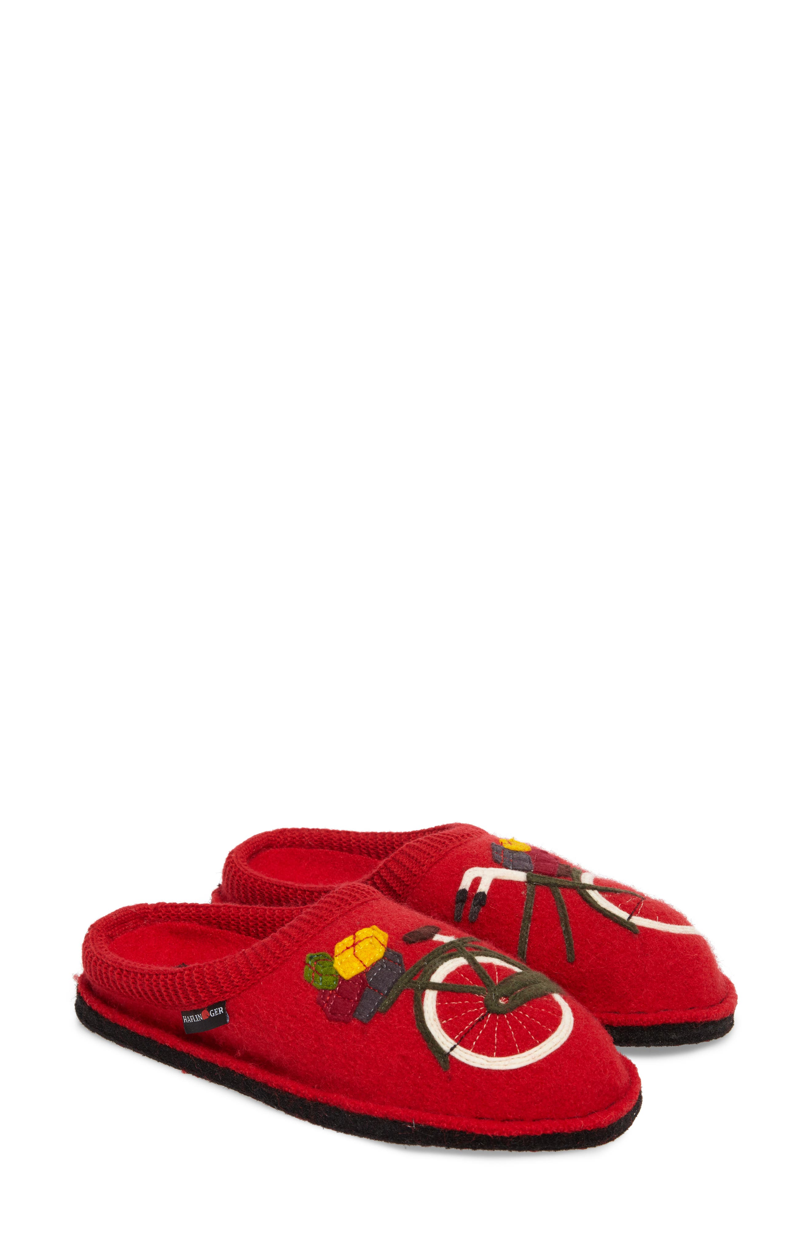 Bicycle Slipper,                             Alternate thumbnail 3, color,                             Bicycle Red Wool