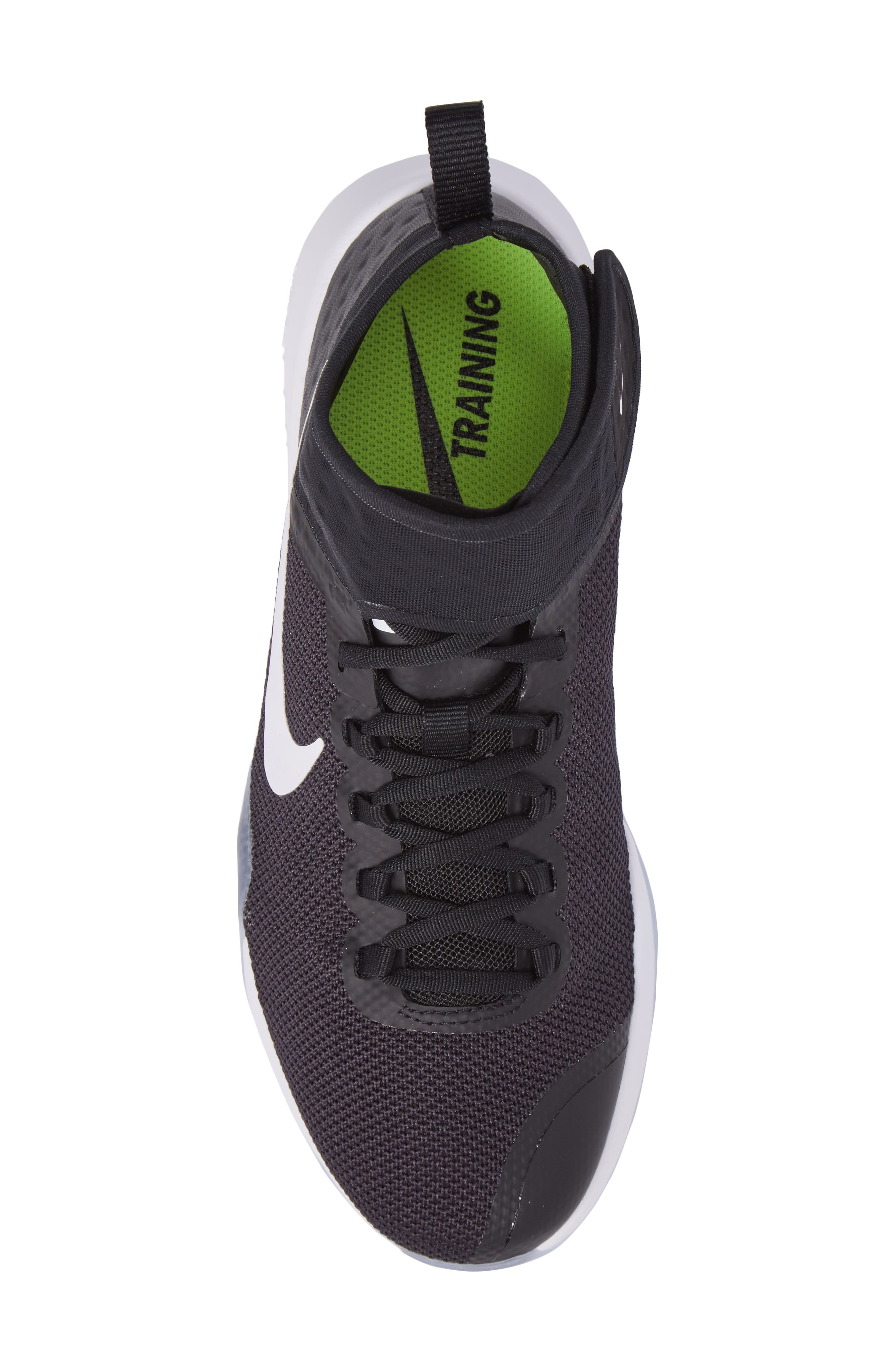 NikeLab Air Zoom Strong 2 Training Shoe,                             Alternate thumbnail 4, color,                             Black/ White