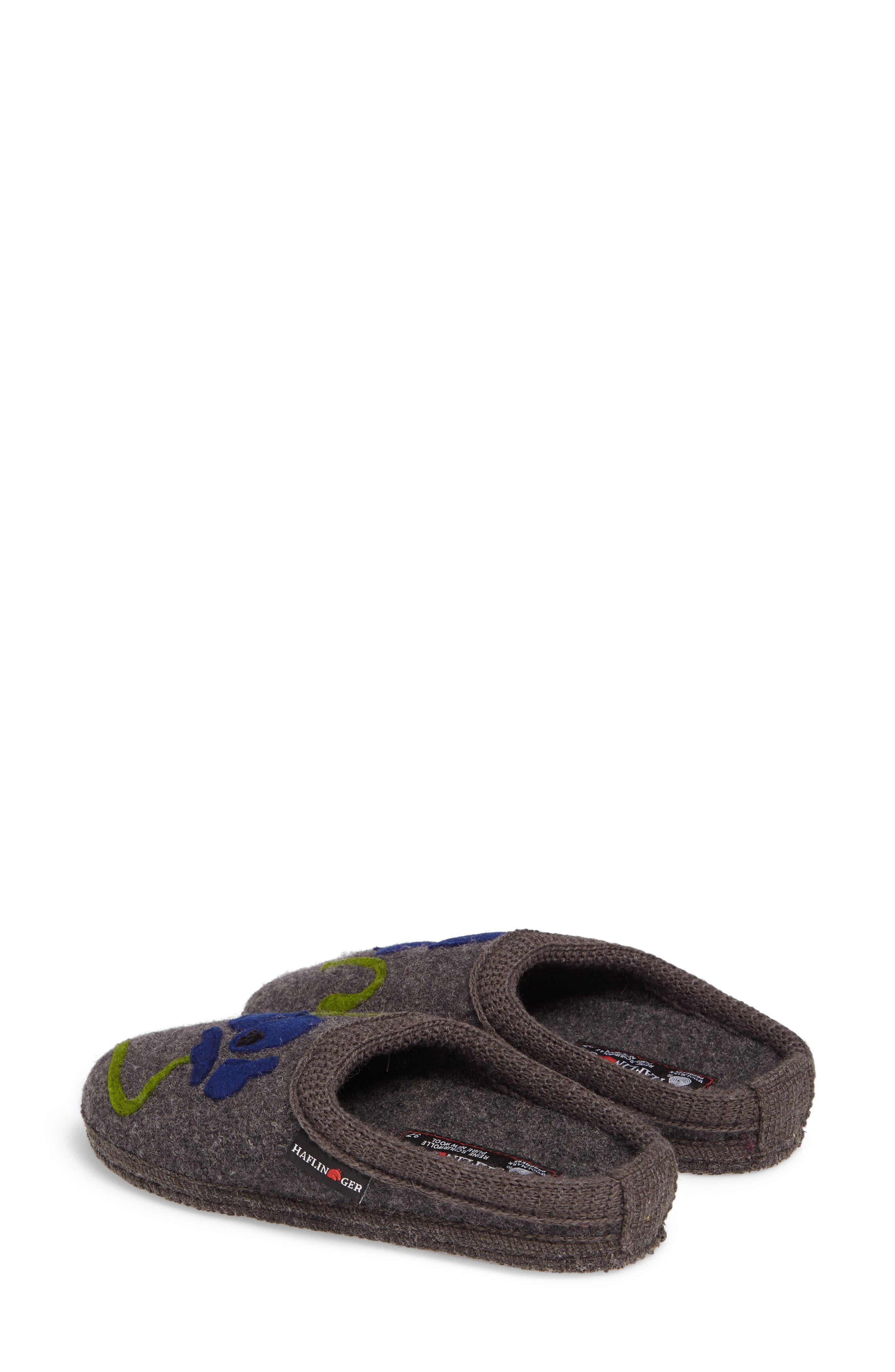 Blossom Slipper,                             Alternate thumbnail 3, color,                             Grey Wool