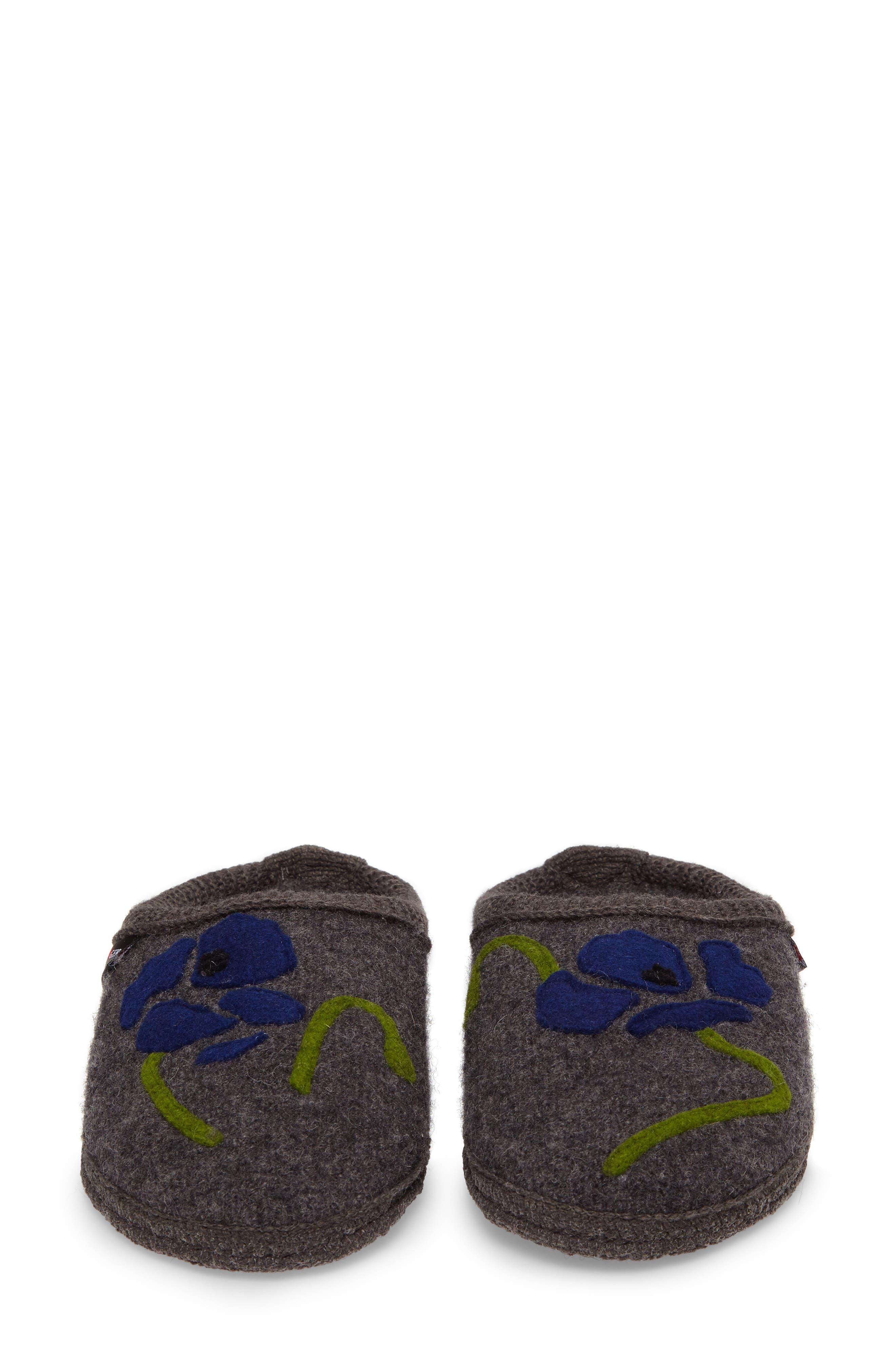 Blossom Slipper,                             Alternate thumbnail 5, color,                             Grey Wool