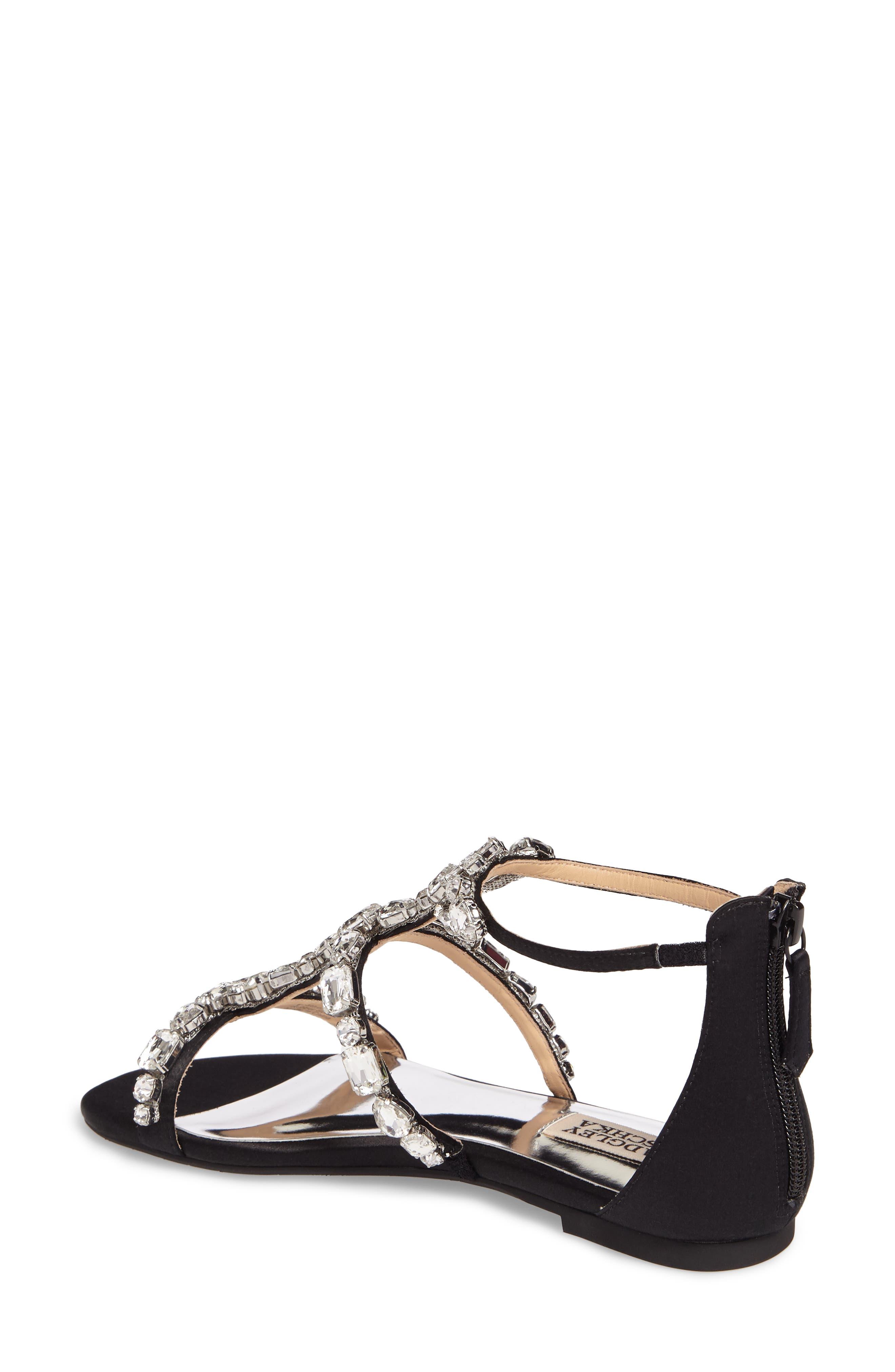 Alternate Image 2  - Badgley Mischka Warren Crystal Embellished Sandal (Women)