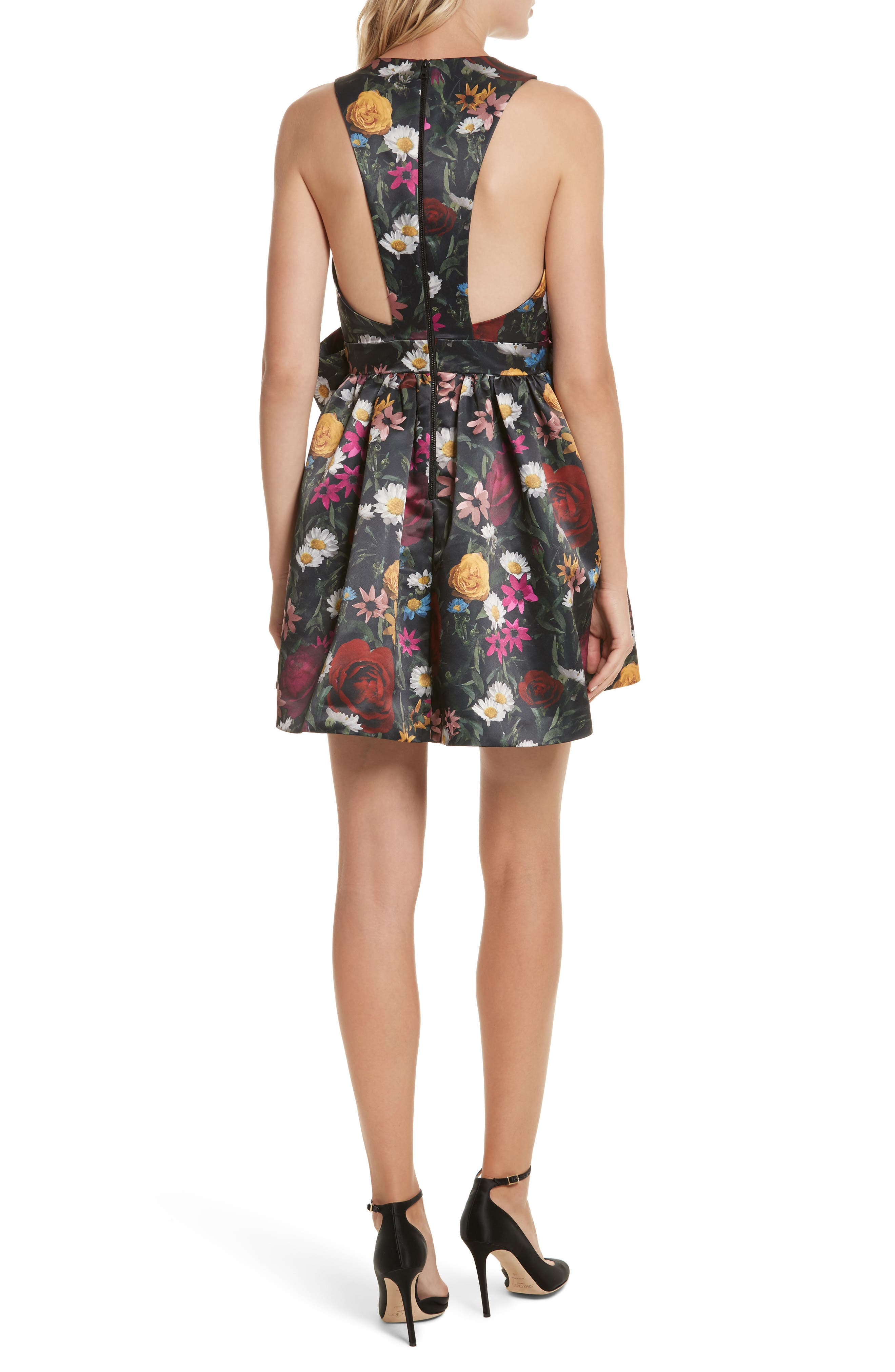 Alternate Image 2  - Alice + Olivia Daralee Bow Front Party Dress