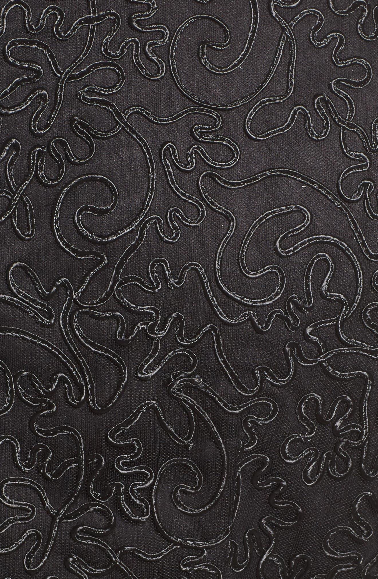 Alternate Image 5  - Alex Evenings Embroidered Illusion Sleeve Blouse (Plus Size)
