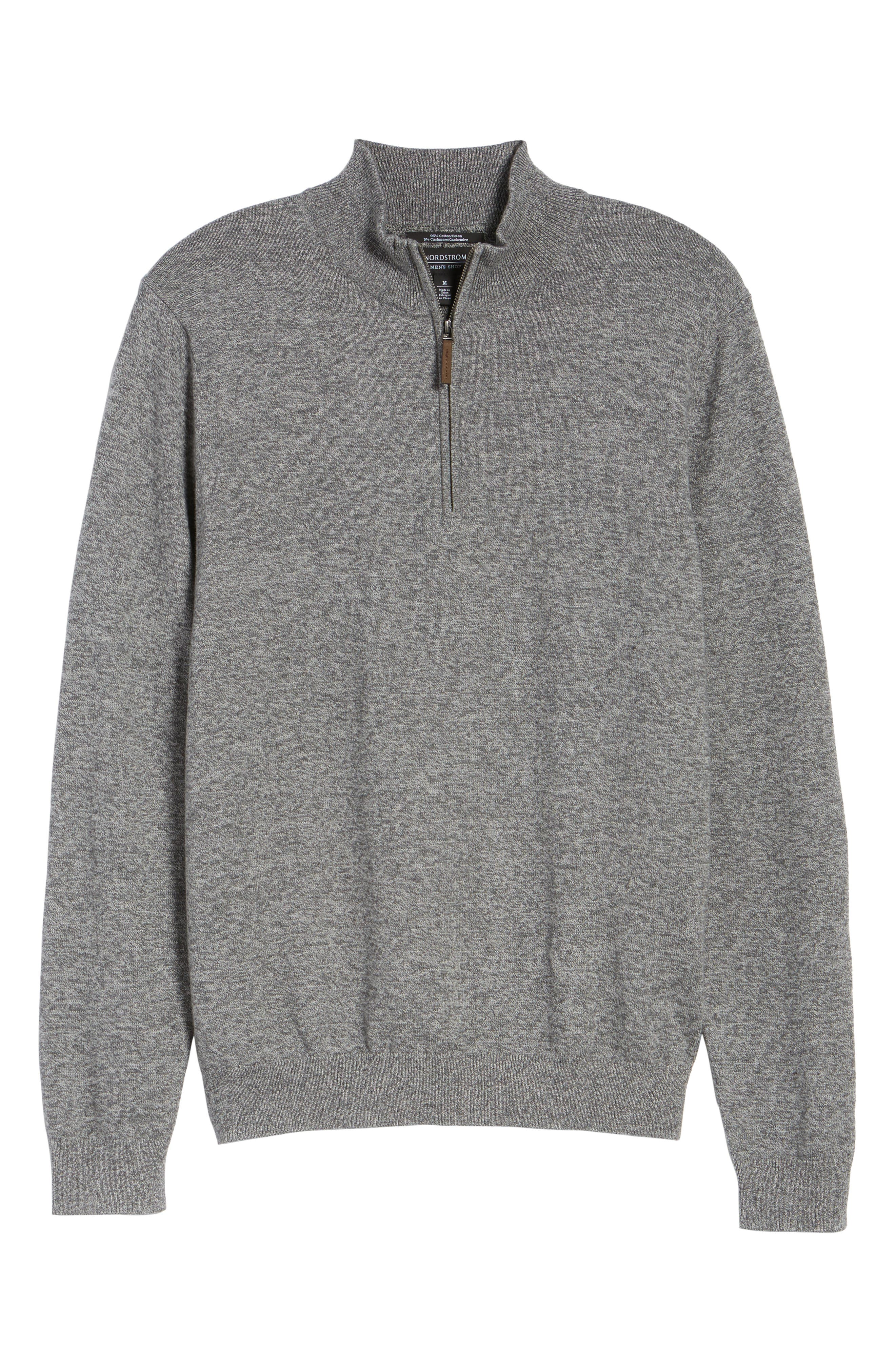 Alternate Image 6  - Nordstrom Men's Shop Quarter Zip Sweater (Big)
