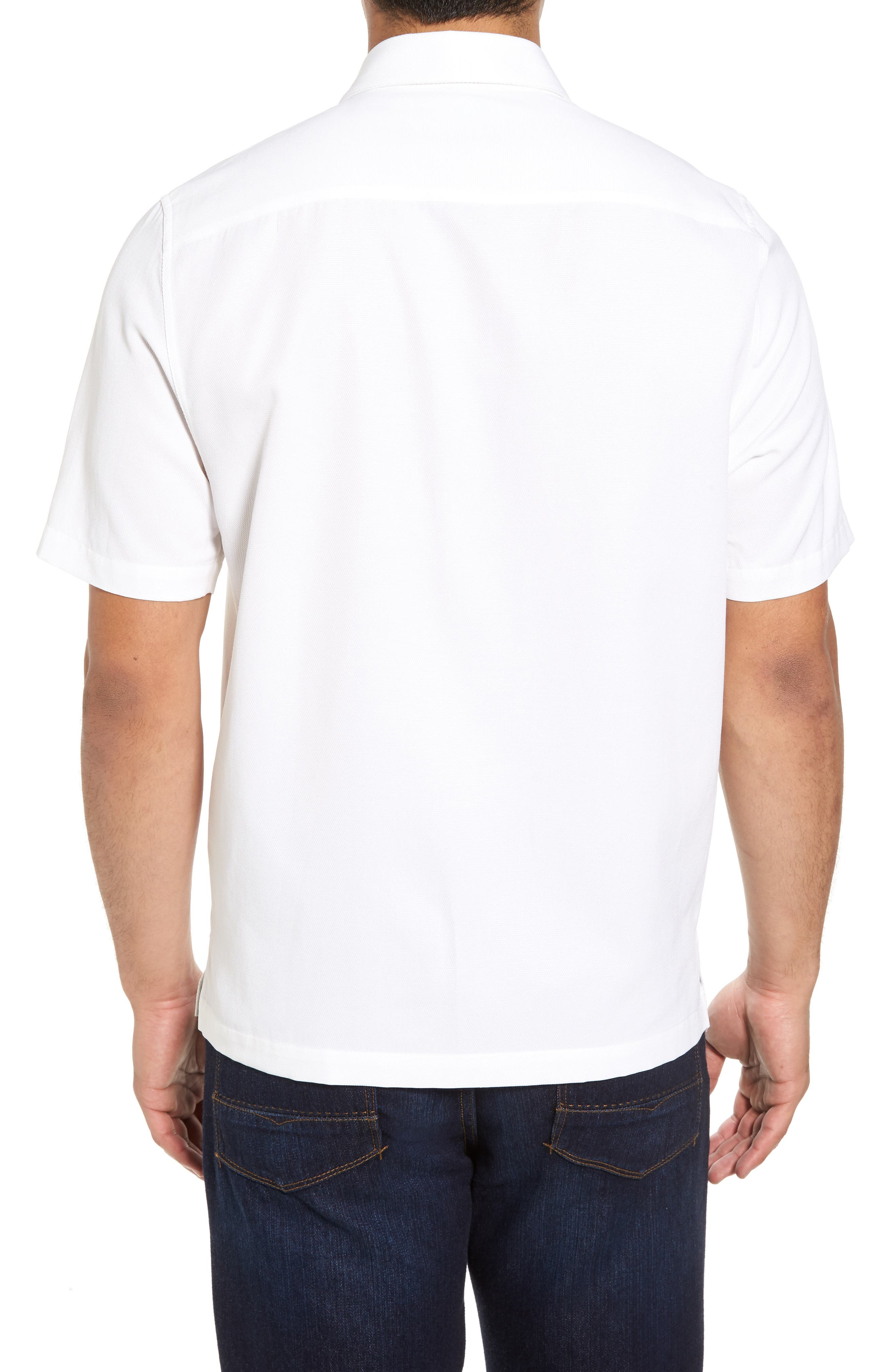 Alternate Image 2  - Nat Nast Gondola Embroidered Jacquard Silk Blend Sport Shirt