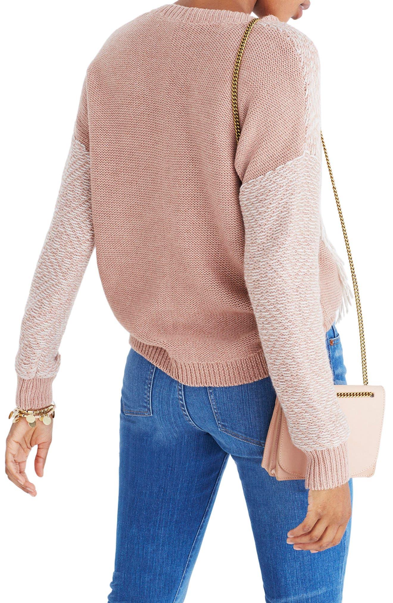 Reverse Diamond Pullover Sweater,                             Alternate thumbnail 2, color,                             Heather Voile