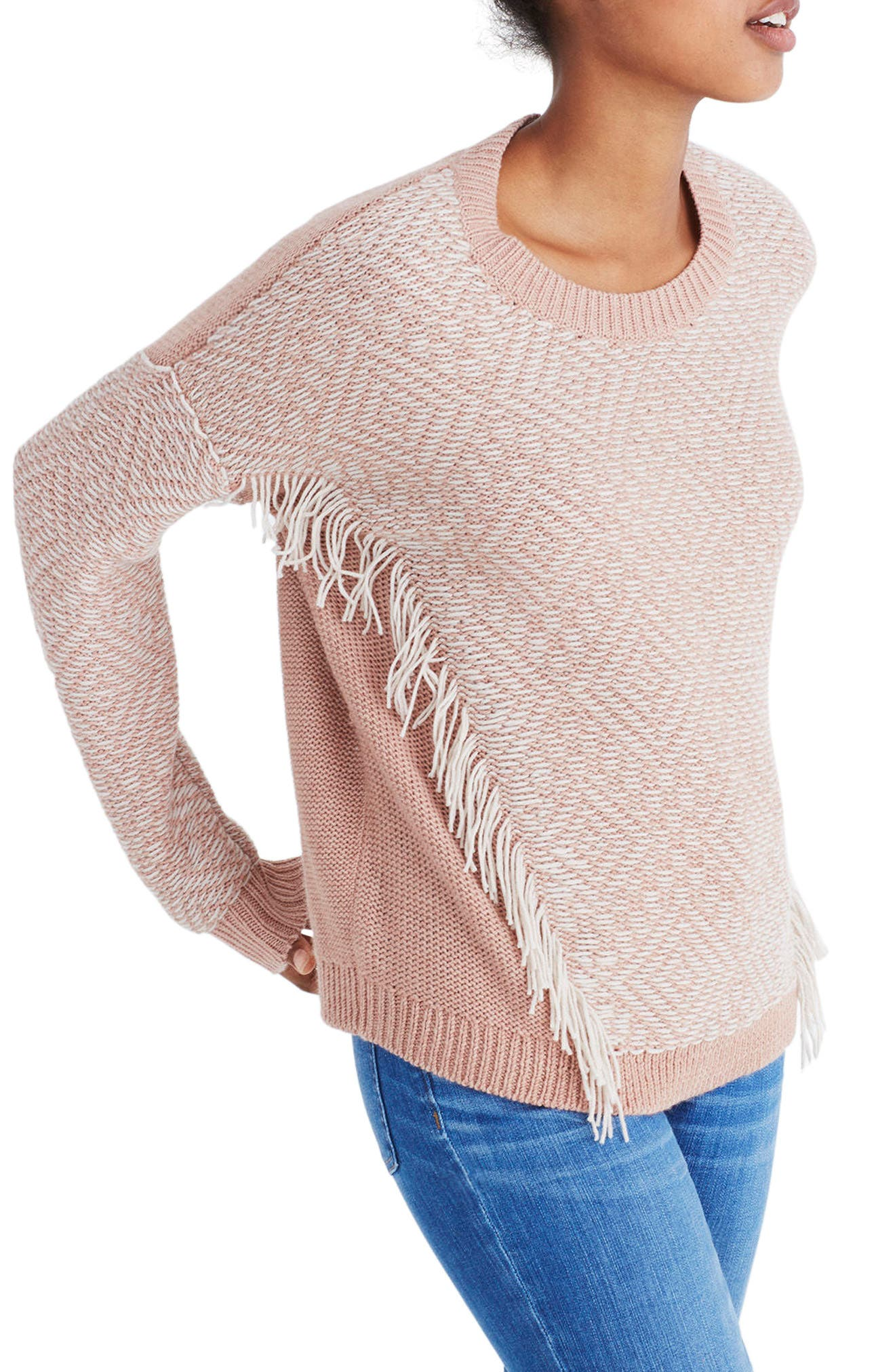 Reverse Diamond Pullover Sweater,                             Main thumbnail 1, color,                             Heather Voile