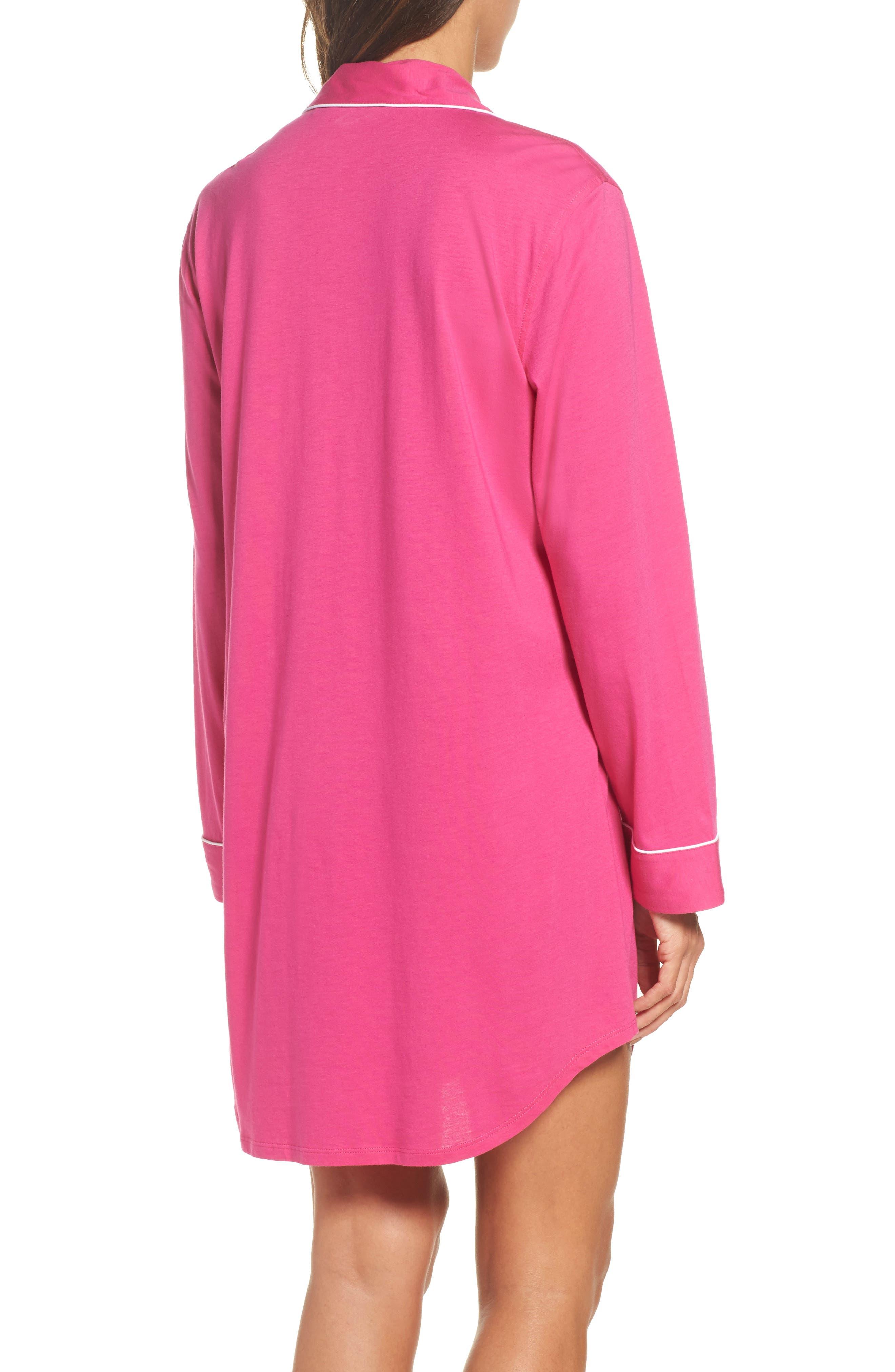 Alternate Image 2  - Lauren Ralph Lauren Knit Nightshirt (Online Only)