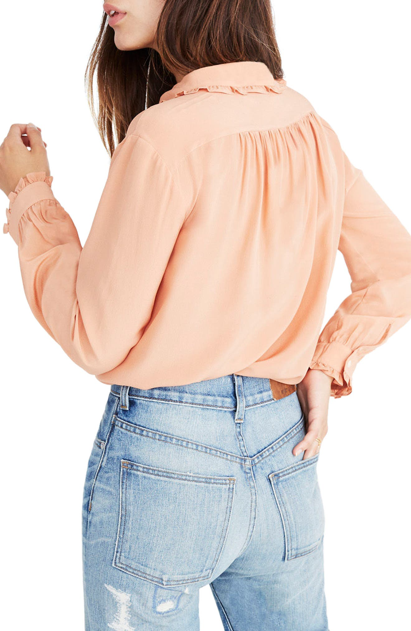 Alternate Image 3  - Madewell Silk Ruffle Blouse