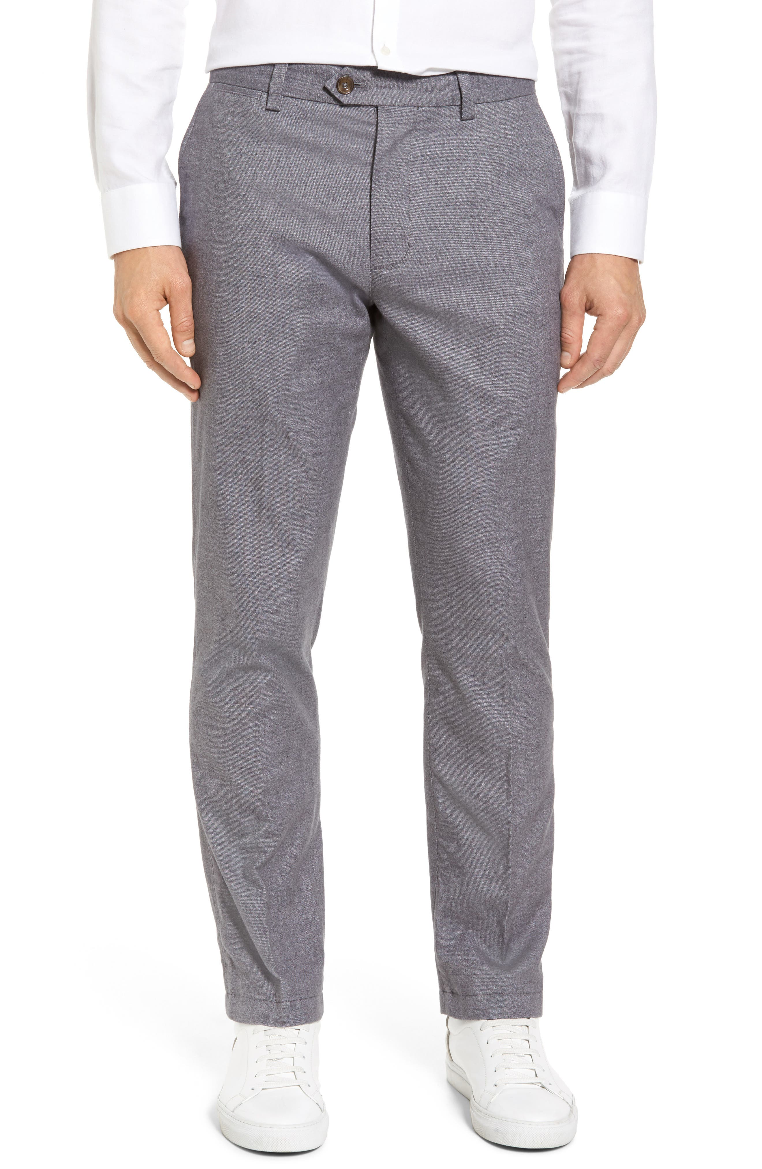 Straight Fit Oxford Burgee Pants,                         Main,                         color, Charcoal
