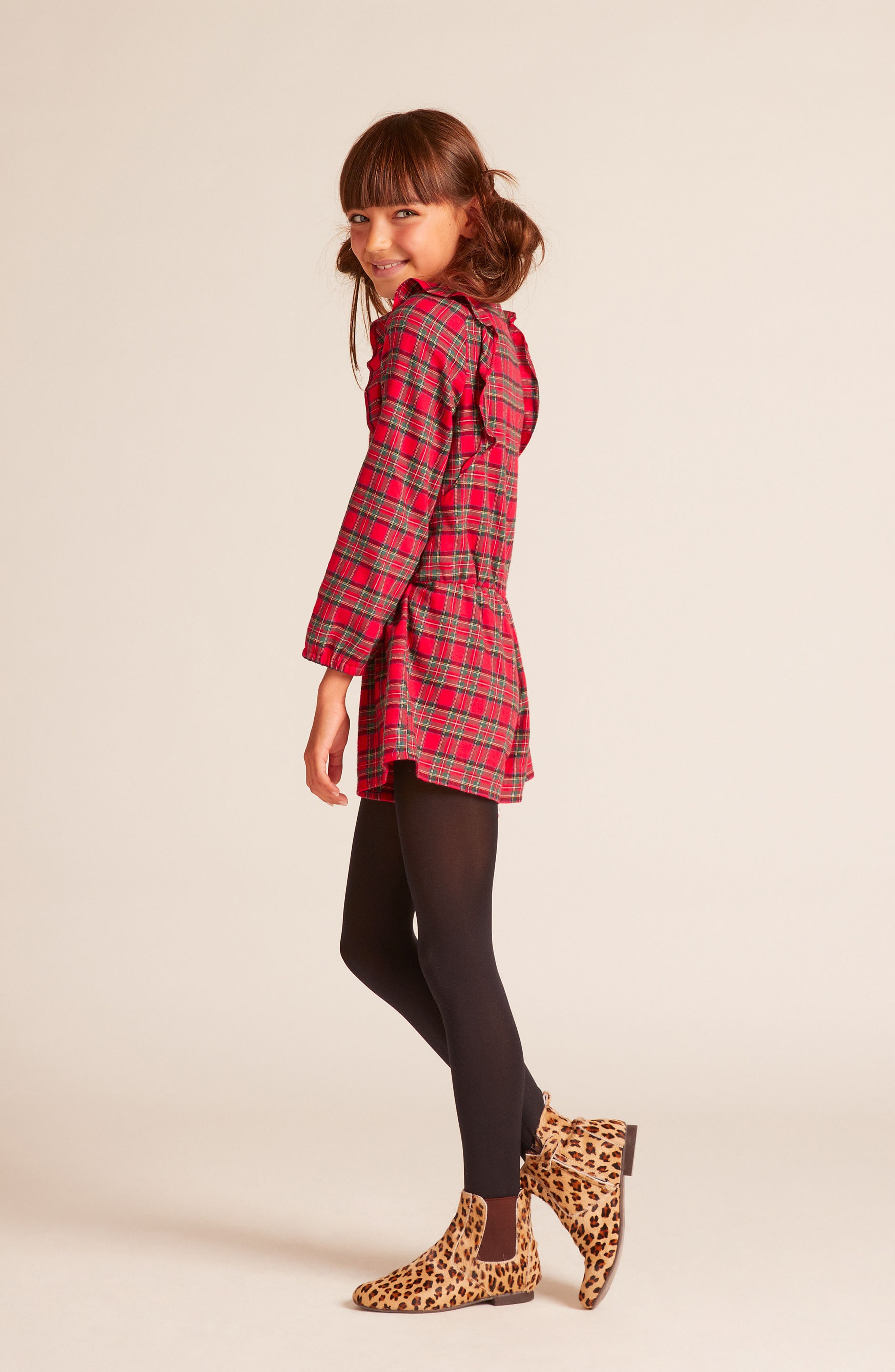Alternate Image 3  - Wild & Gorgeous Pam Plaid Romper (Little Girls & Big Girls)