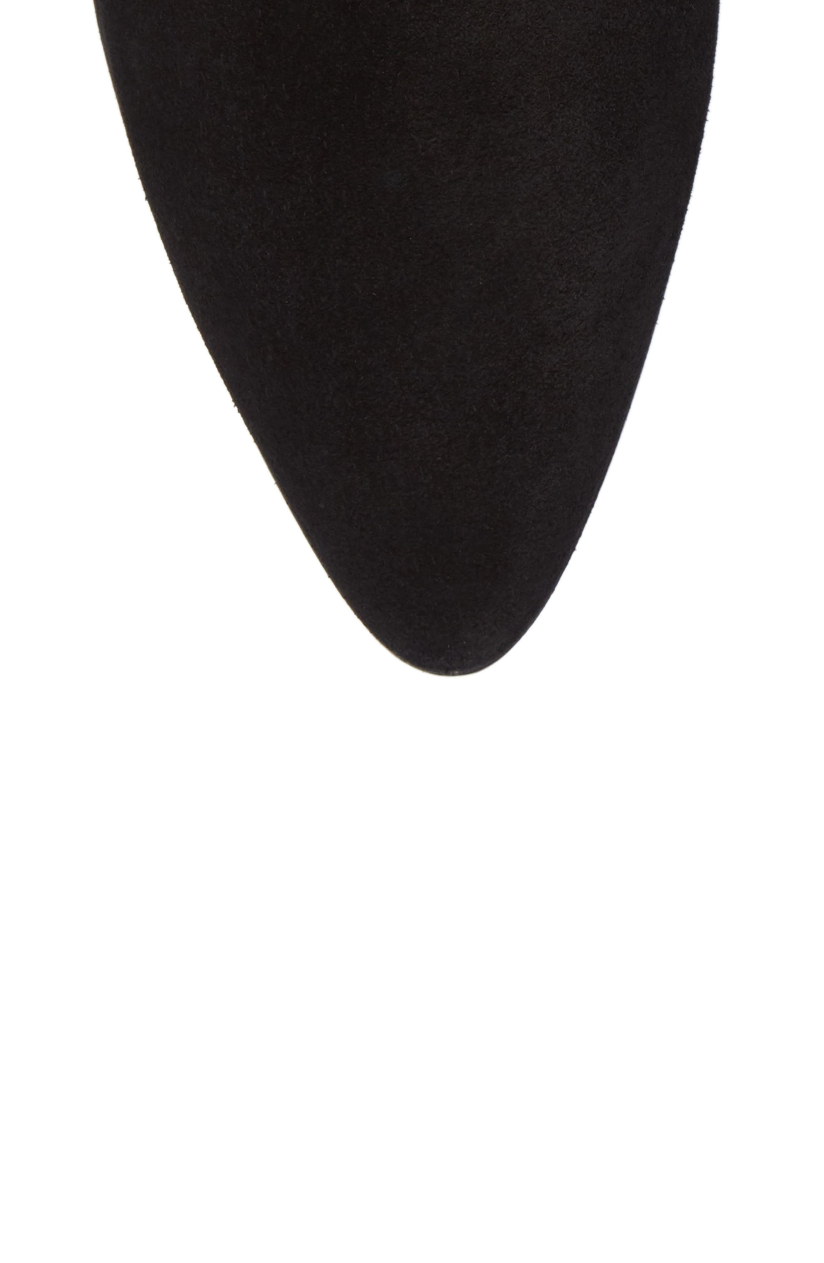Federica Weatherproof Knee High Boot,                             Alternate thumbnail 5, color,                             Black Suede