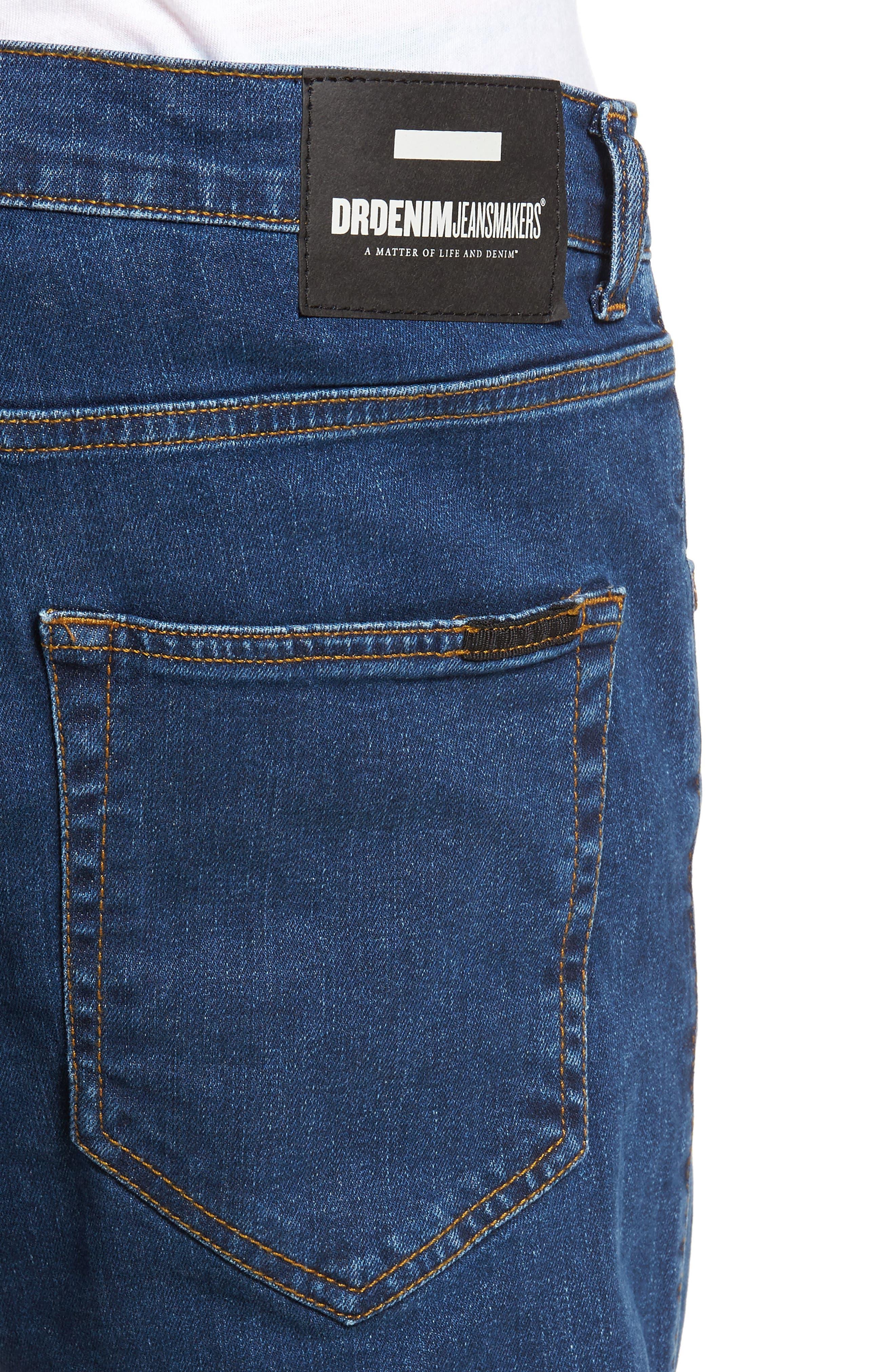 Clark Slim Straight Leg Jeans,                             Alternate thumbnail 4, color,                             Mid Retro