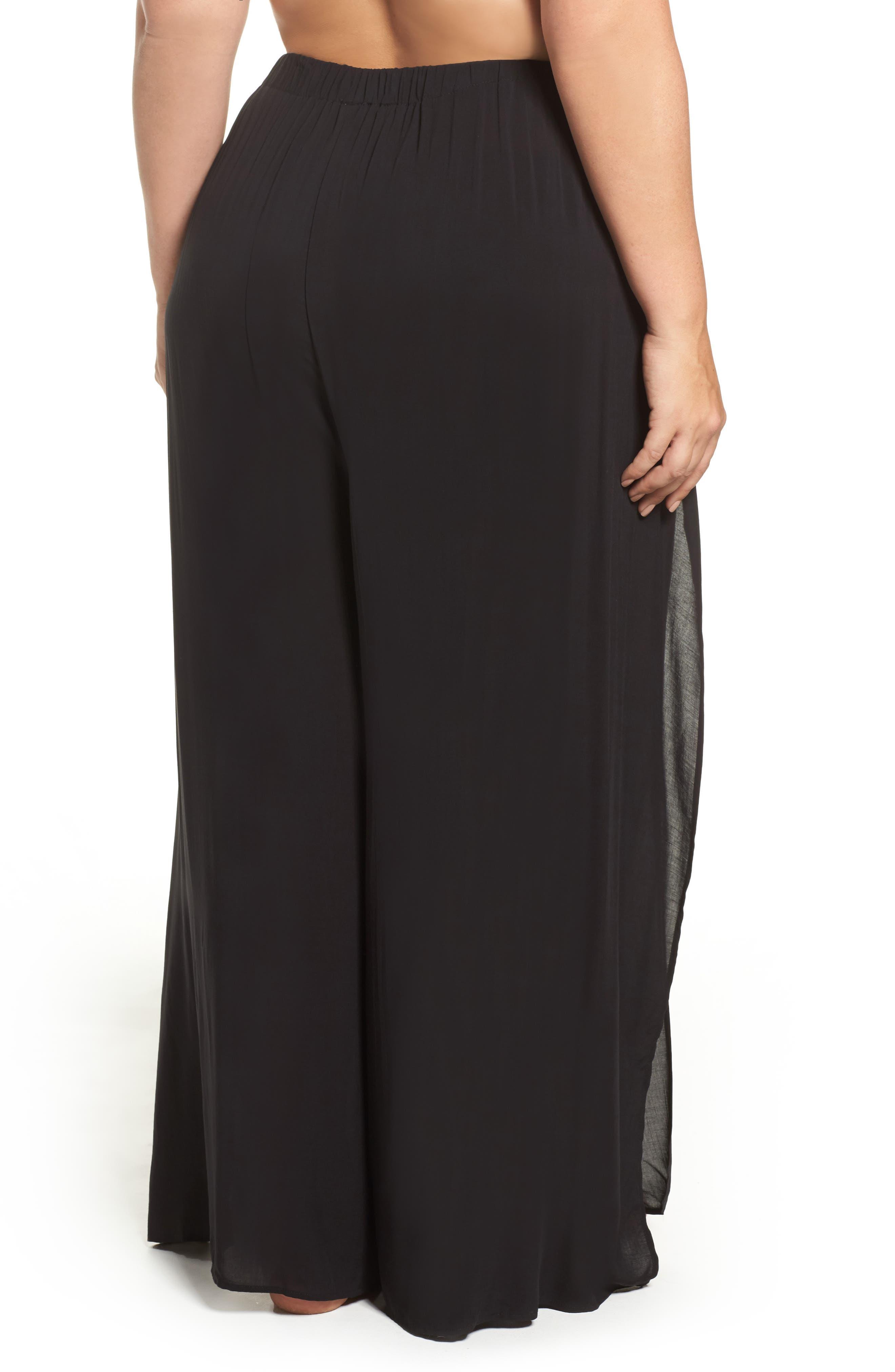 Alternate Image 2  - Elan Cover-Up Flyaway Pants (Plus Size)